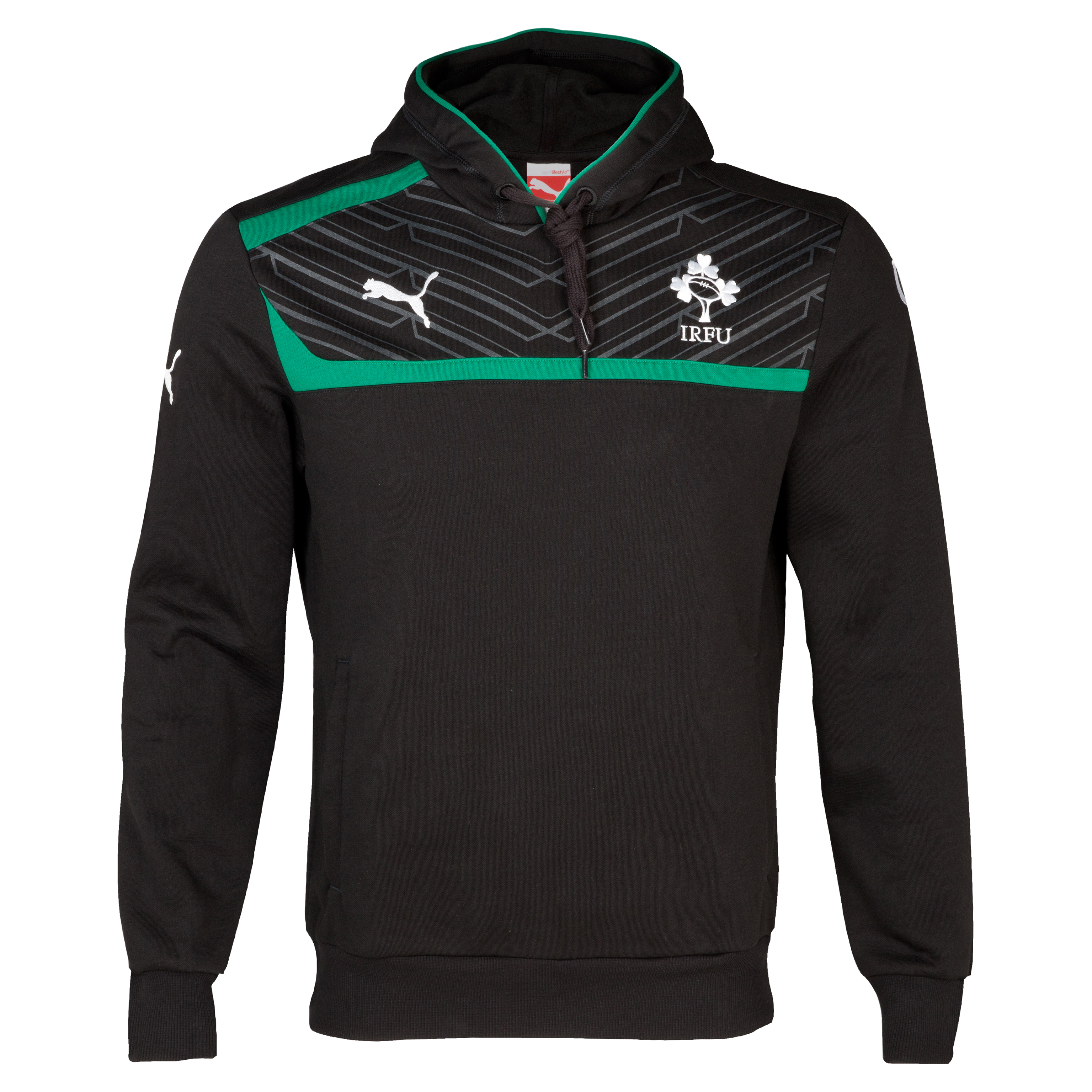 Ireland Rugby Hoody - Black/Green