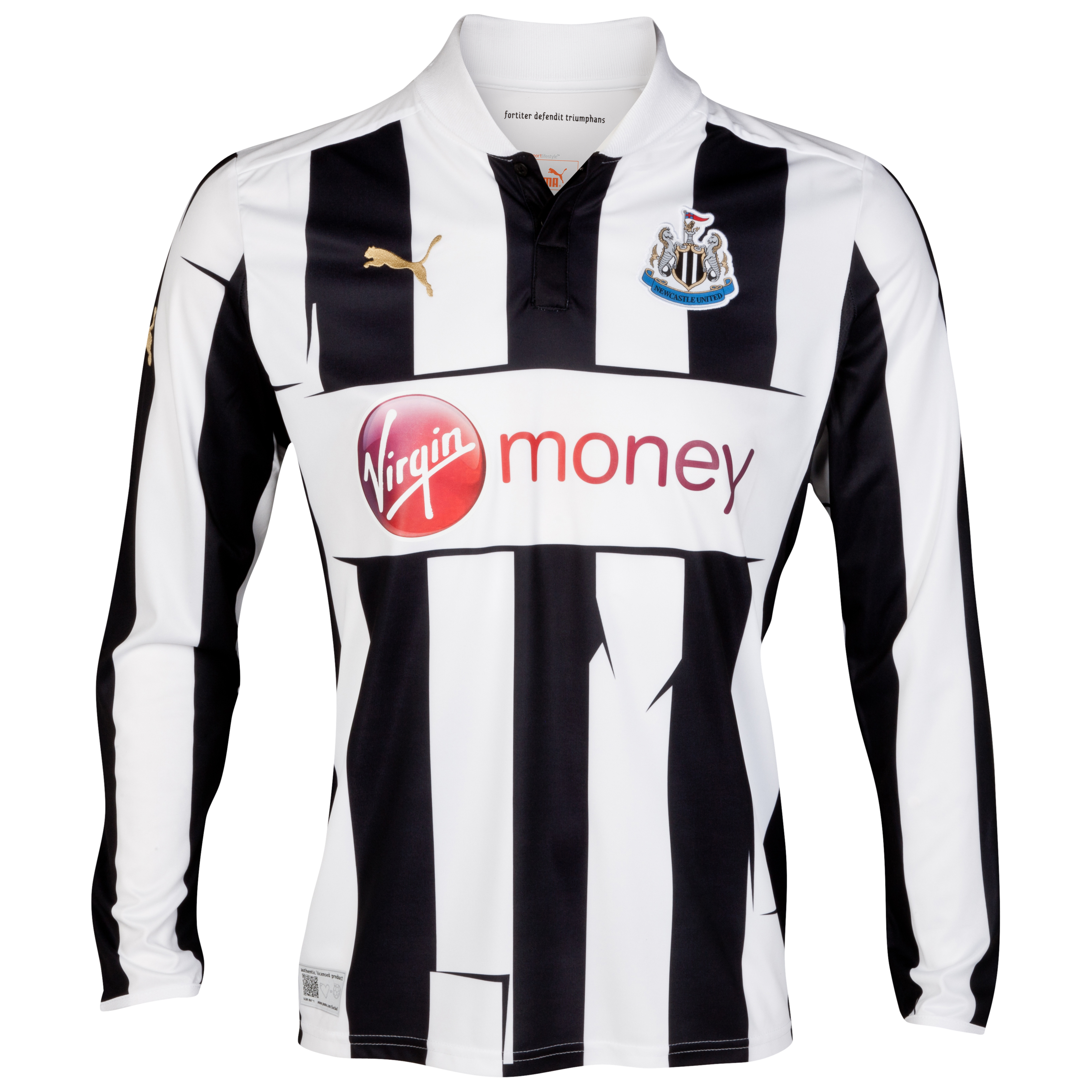 Newcastle United Home Shirt 2012/13 Long Sleeve