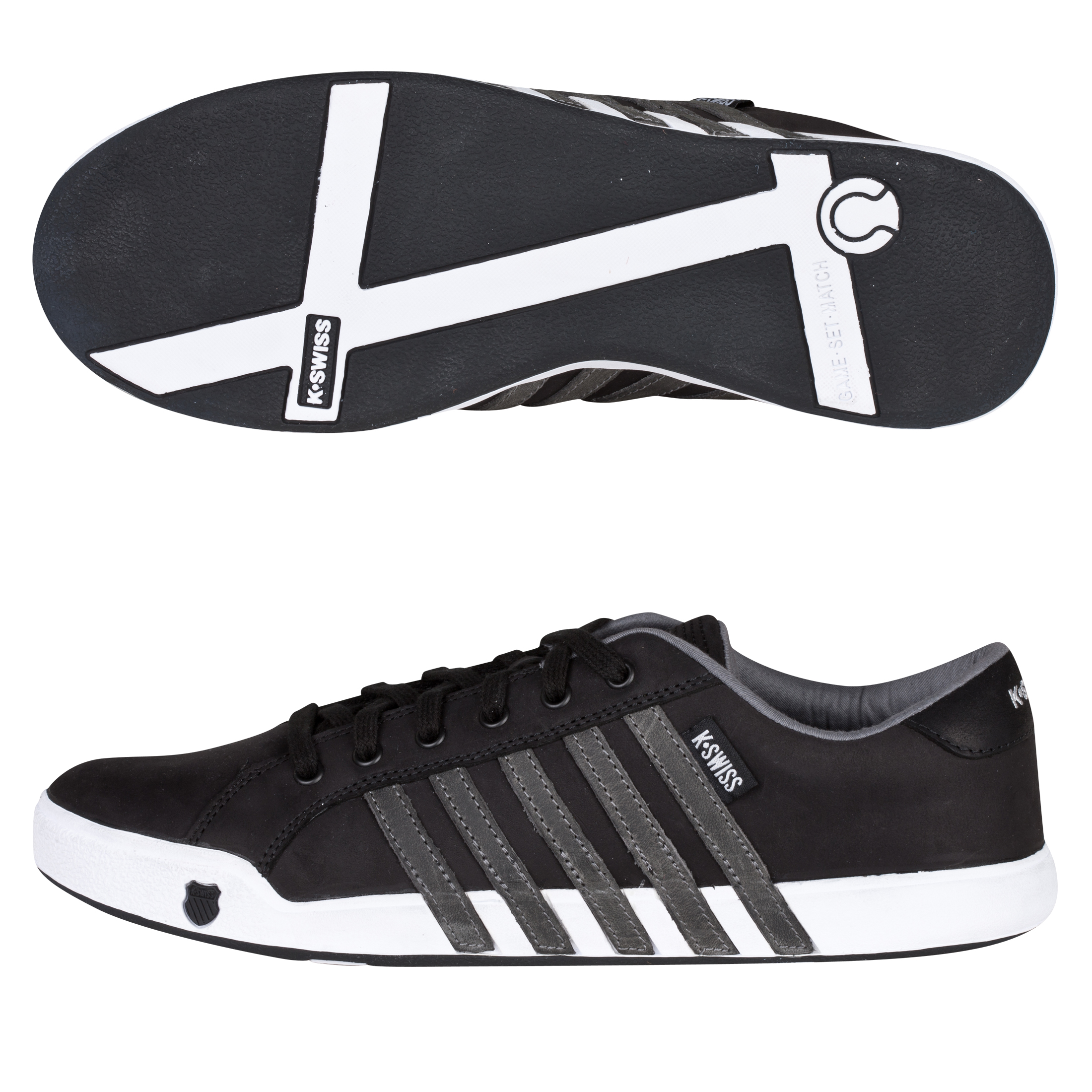 K-Swiss Newport II Trainers - Black/Carbon/White