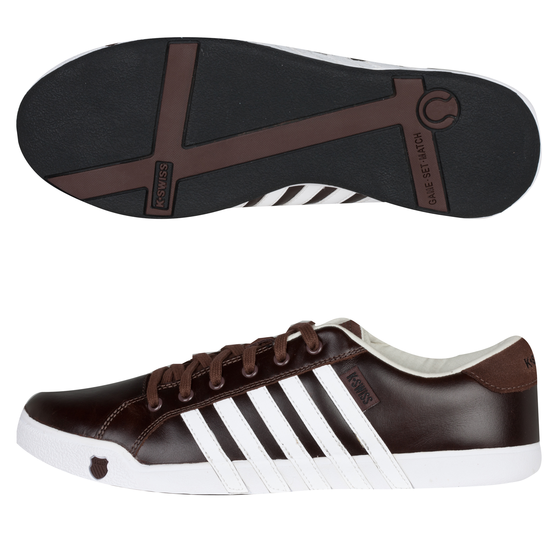 K Swiss K-Swiss Newport II Trainers - Sturdy Brown/White