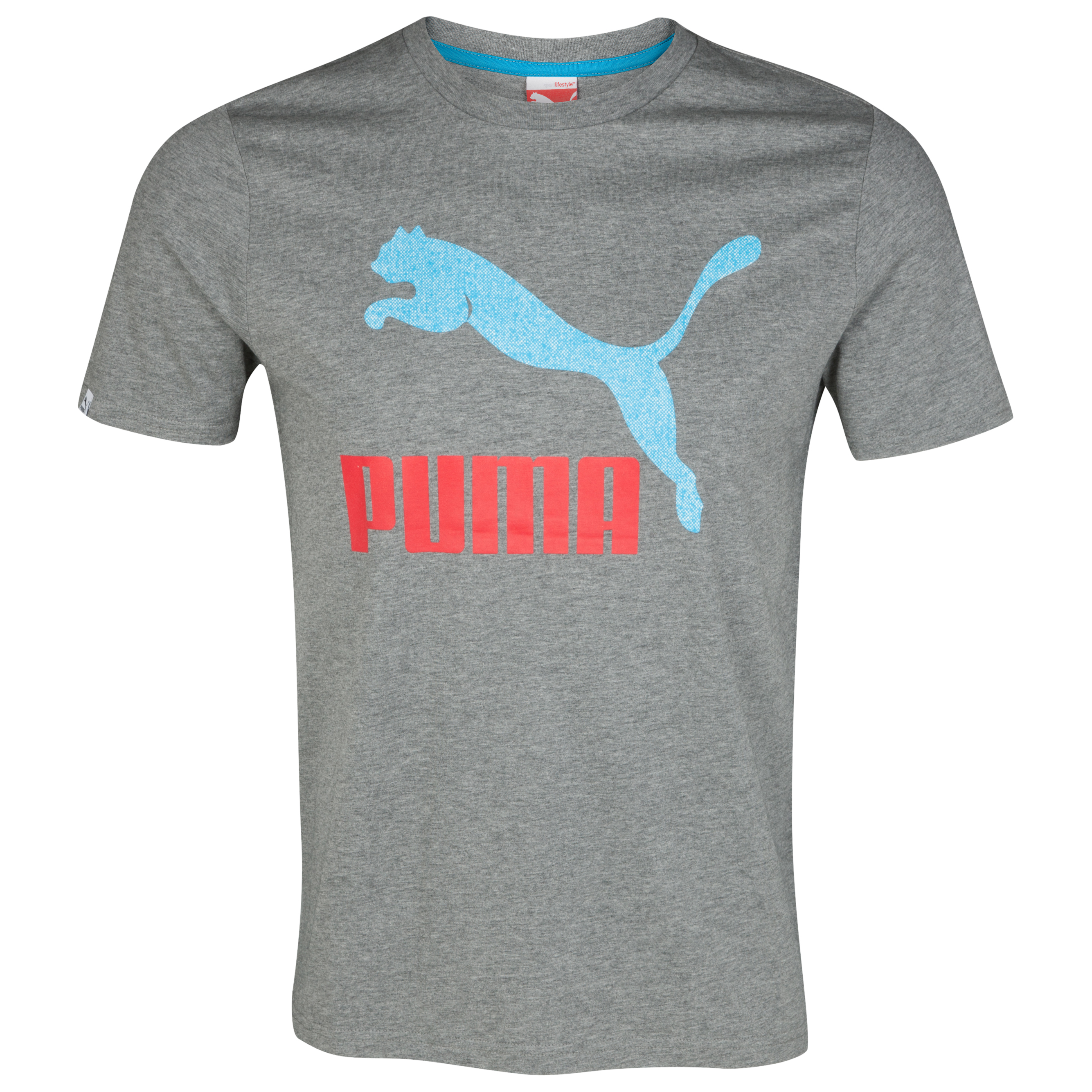 Puma Vintage No.1 Logo Tee - Medium Gray Heather