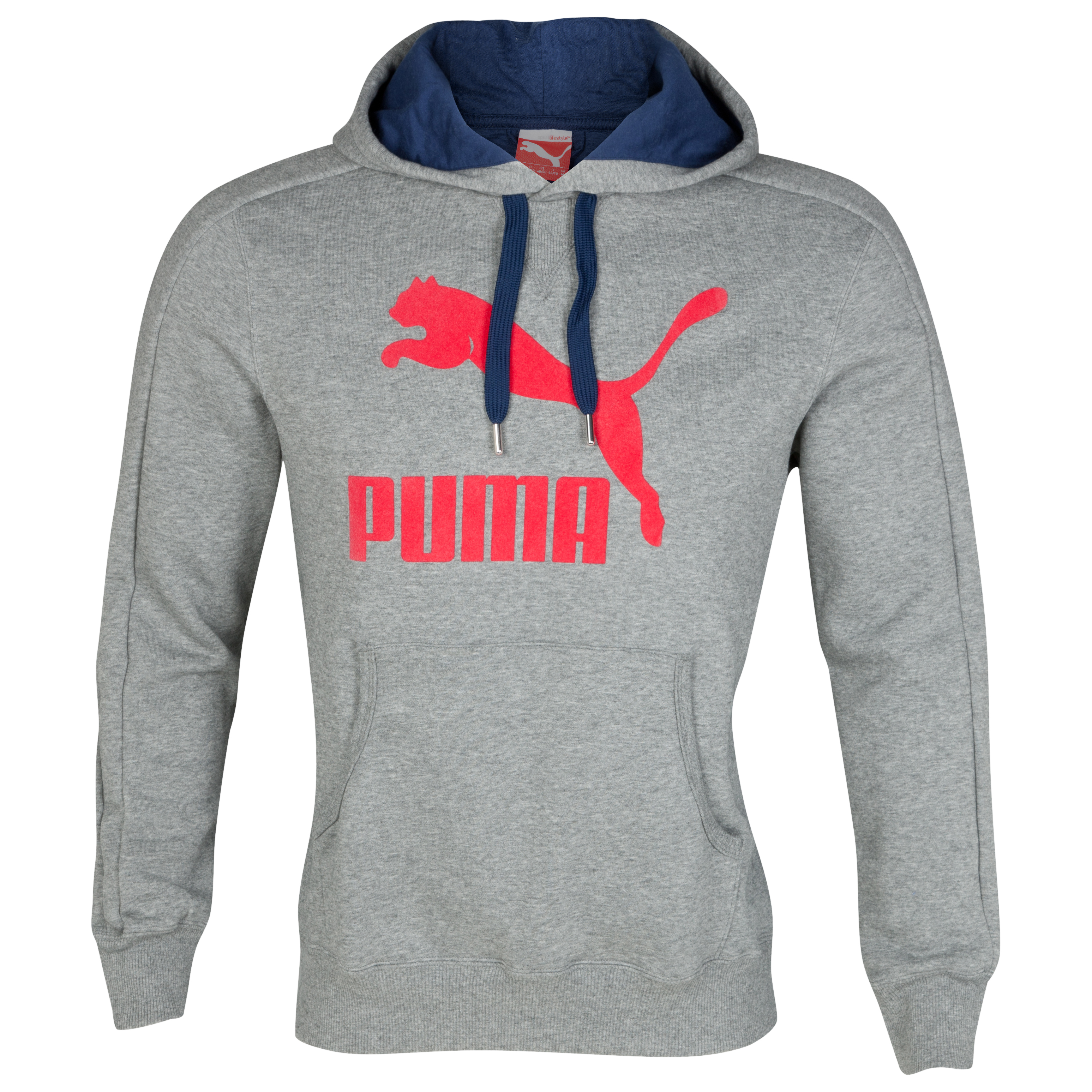Puma Logo Hoody - Medium Gray Heather