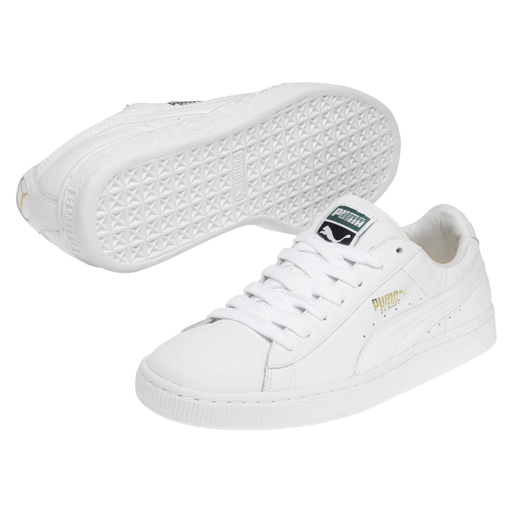 Puma Basket Classic Trainer - White/White