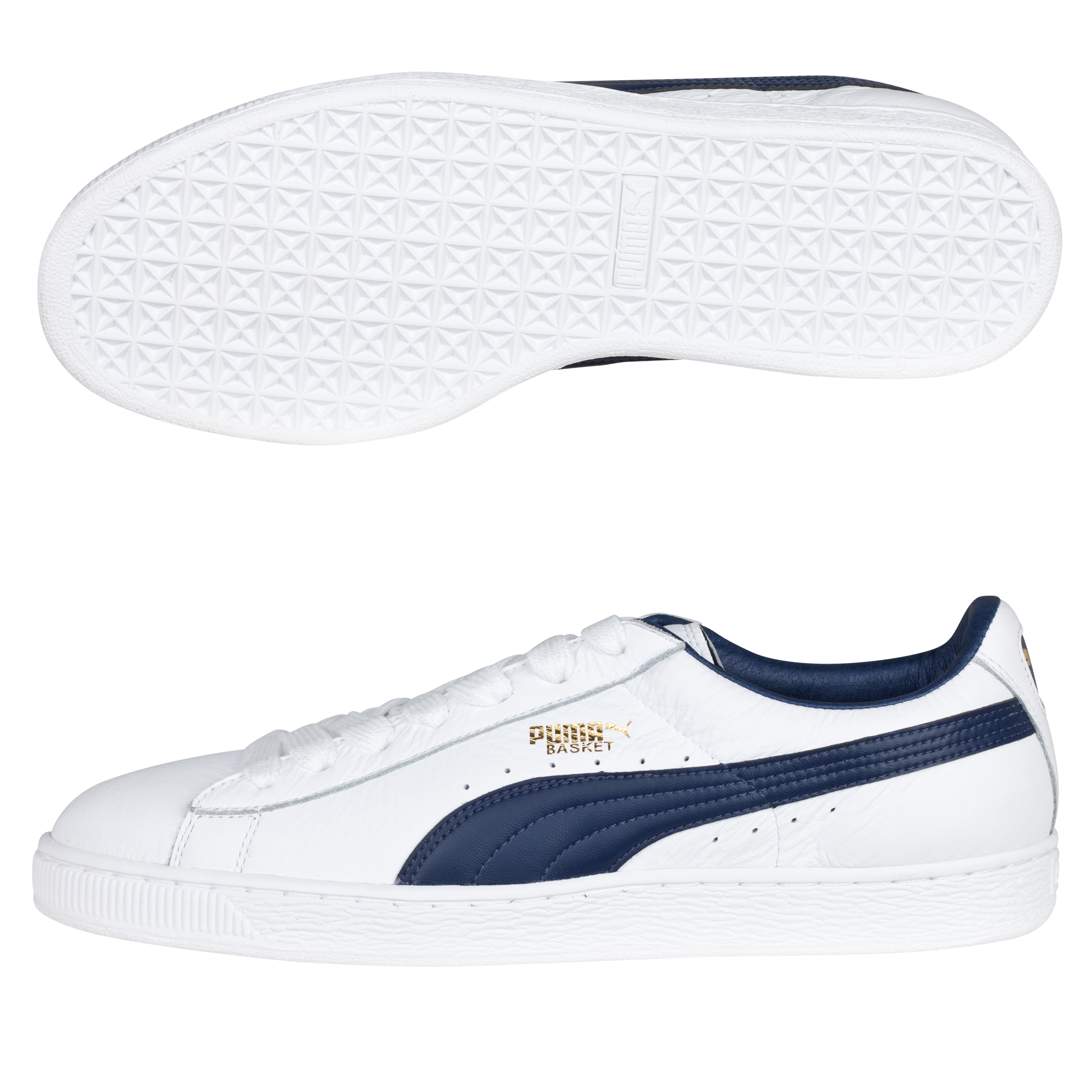 Puma Basket Classic Trainer - White/Medieval Blue