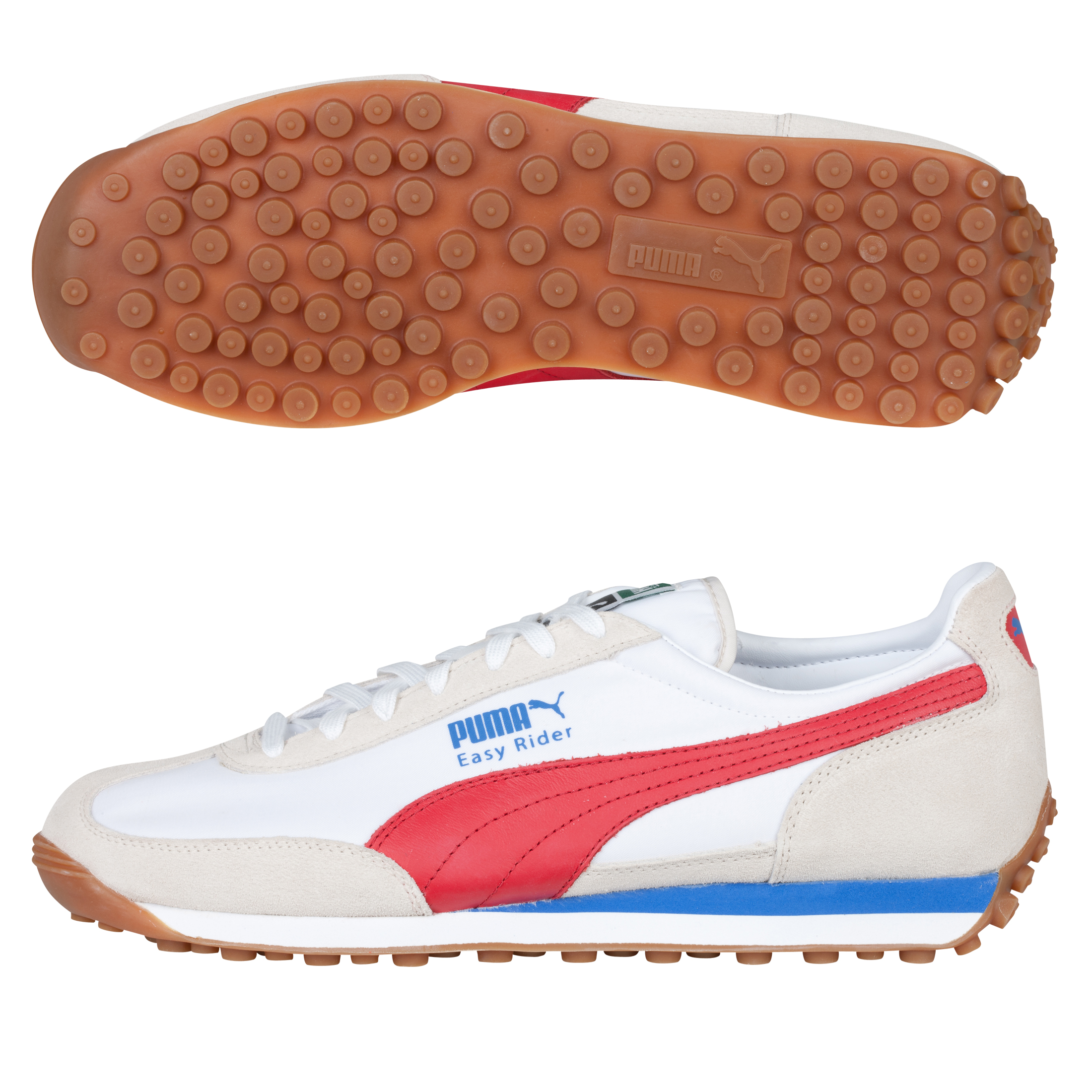 Puma Easy Rider 78 Trainer - Birch/Ribbon Red/White