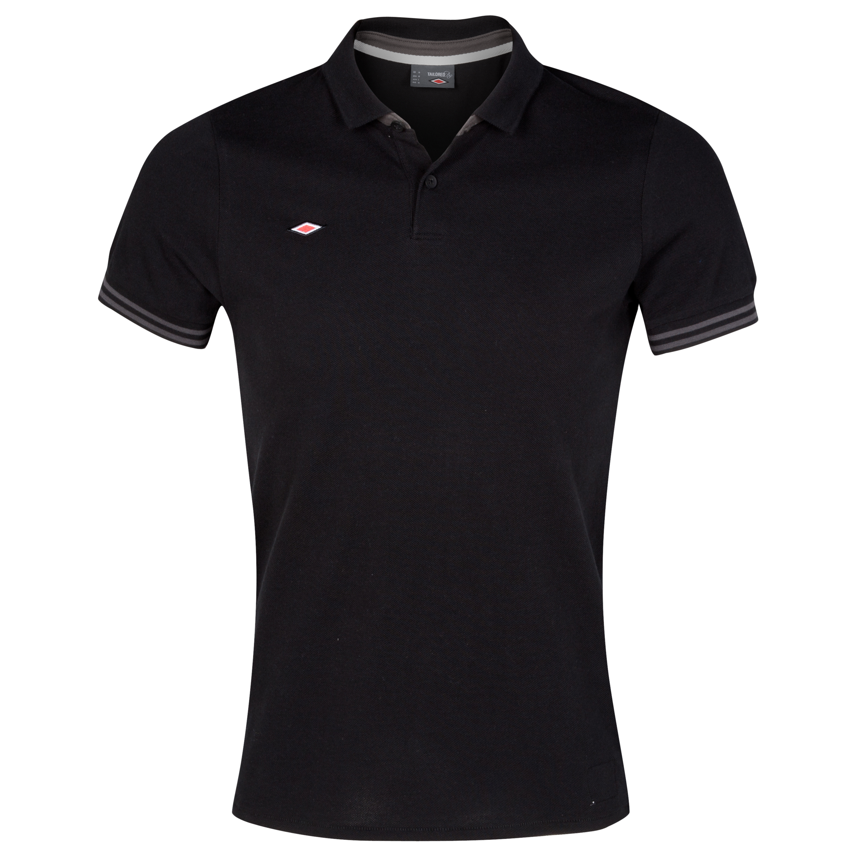 Umbro Pique Polo - Black/Dark Shadow