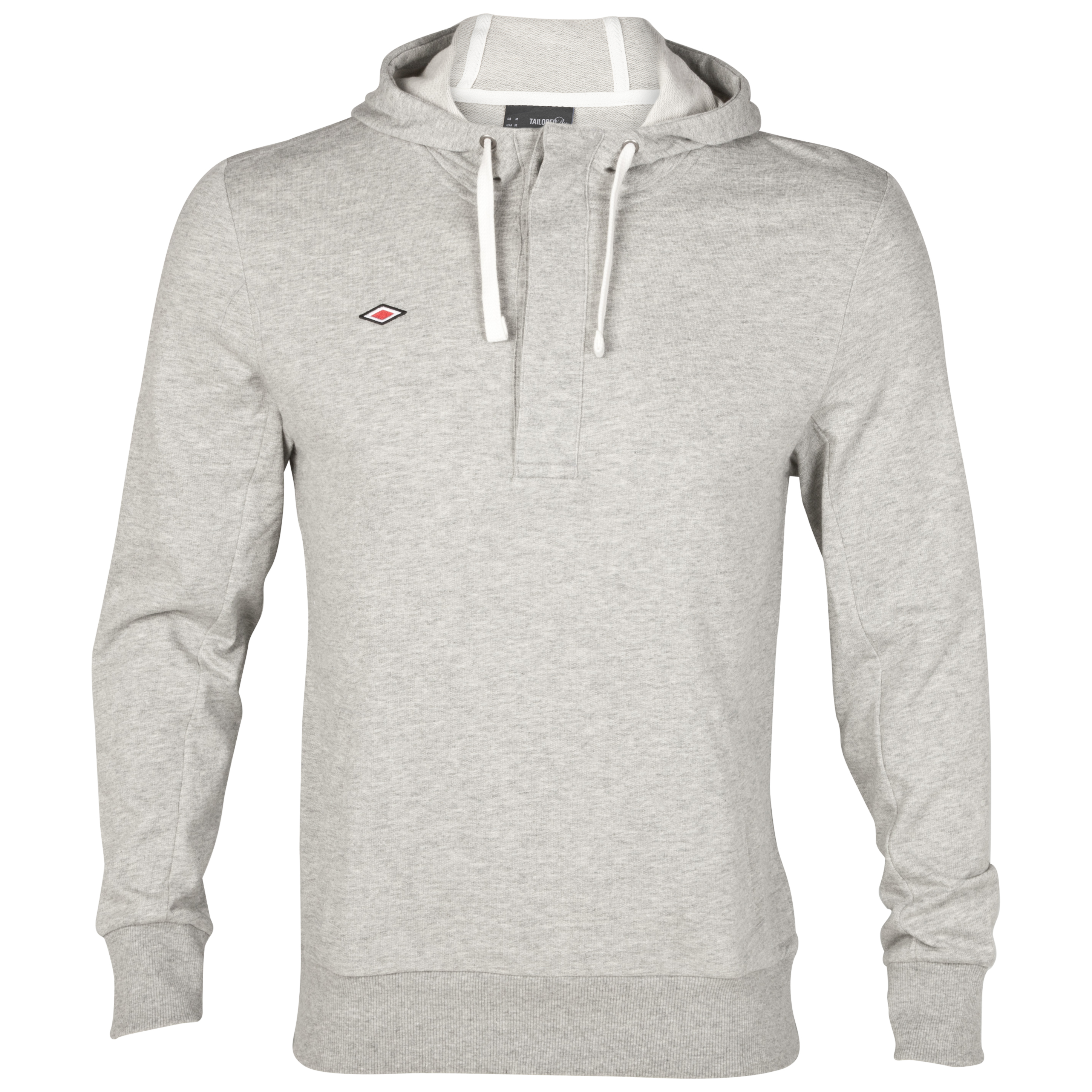 Umbro Overhead Hooded Sweatshirt - Grey Marl