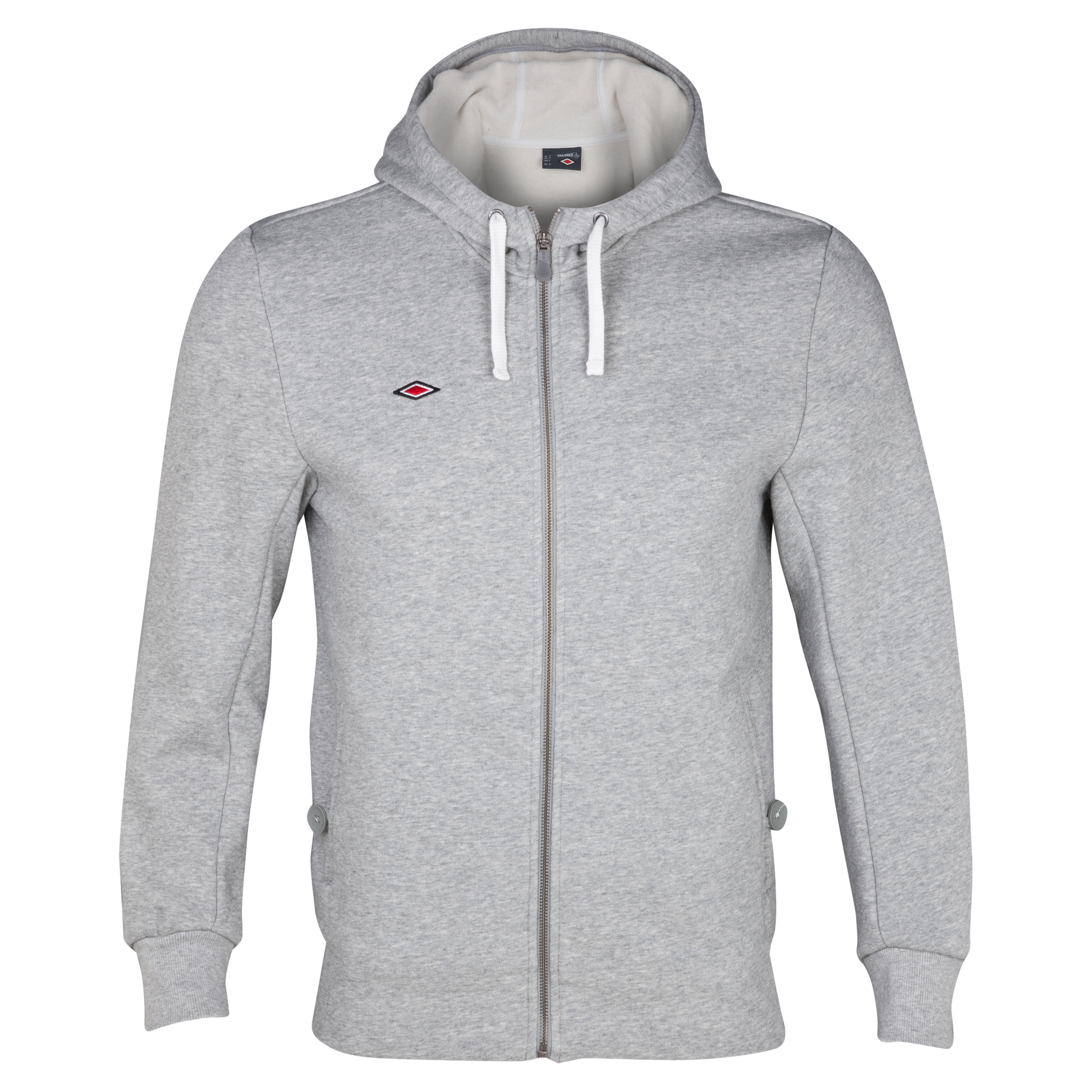 Umbro Full Zip Hooded Sweatshirt - Grey Marl