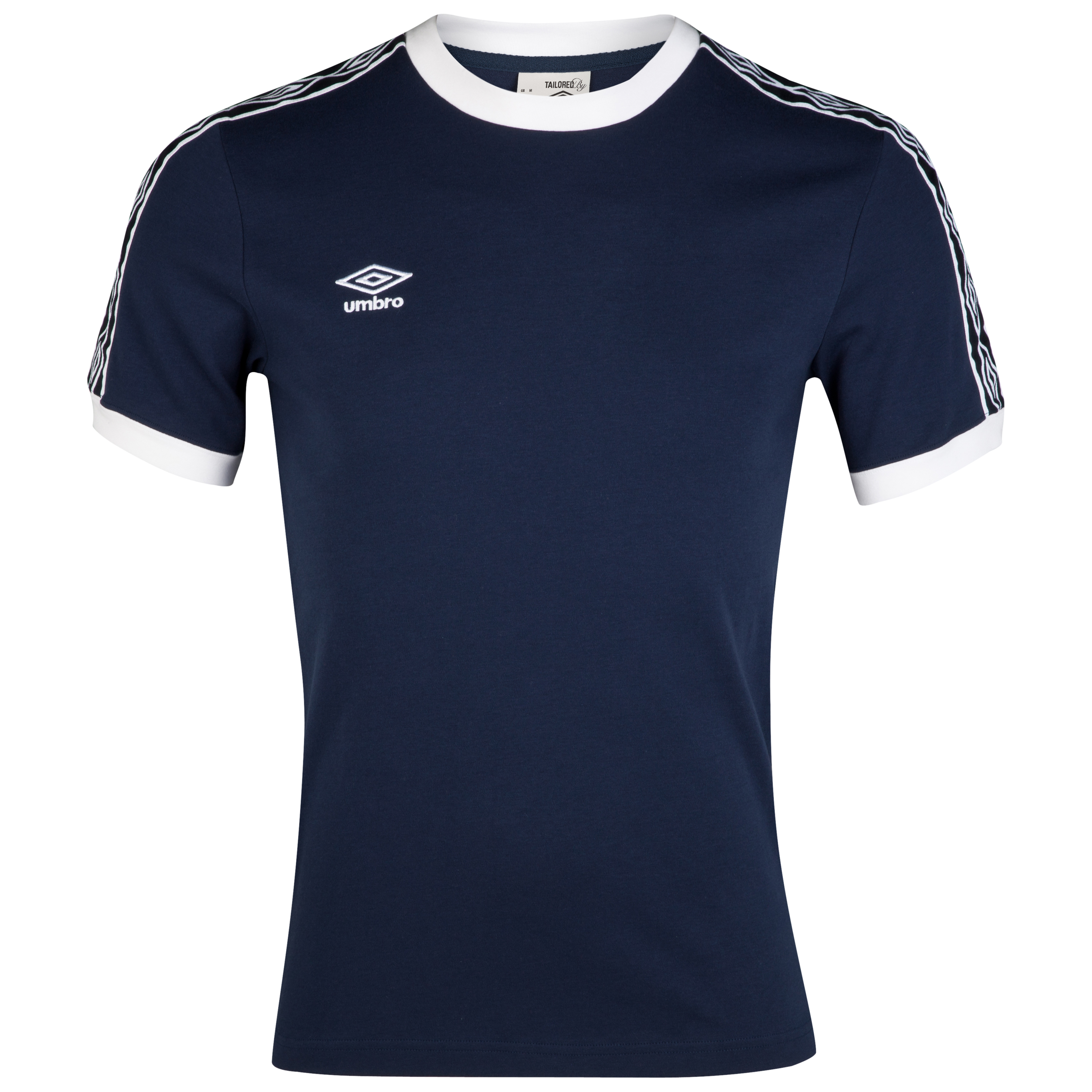 Umbro Heritage Ringer T-Shirt - Dark Navy/White
