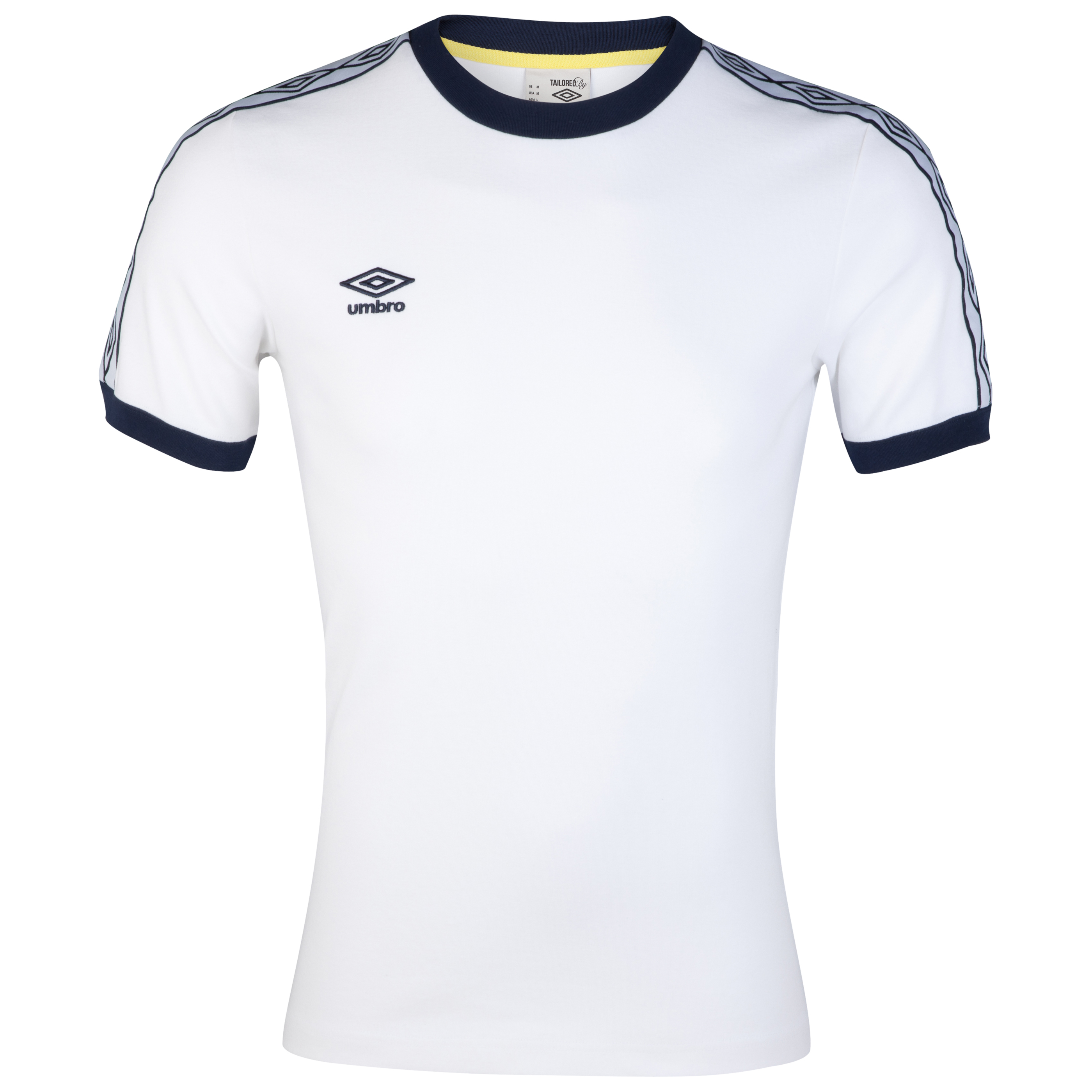 Umbro Heritage Ringer T-Shirt - White/Dark Navy