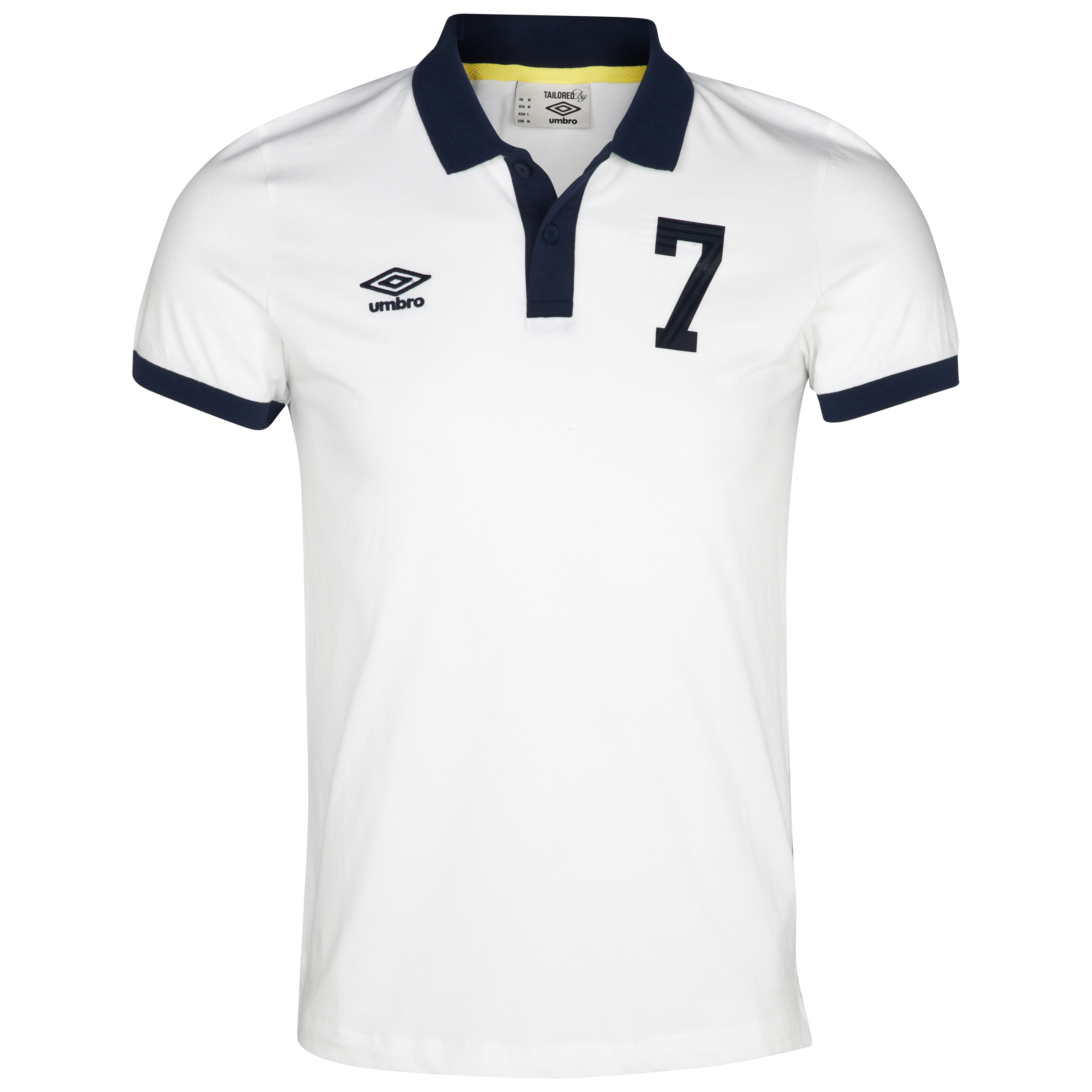 Umbro Heritage Polo - White/Dark Navy