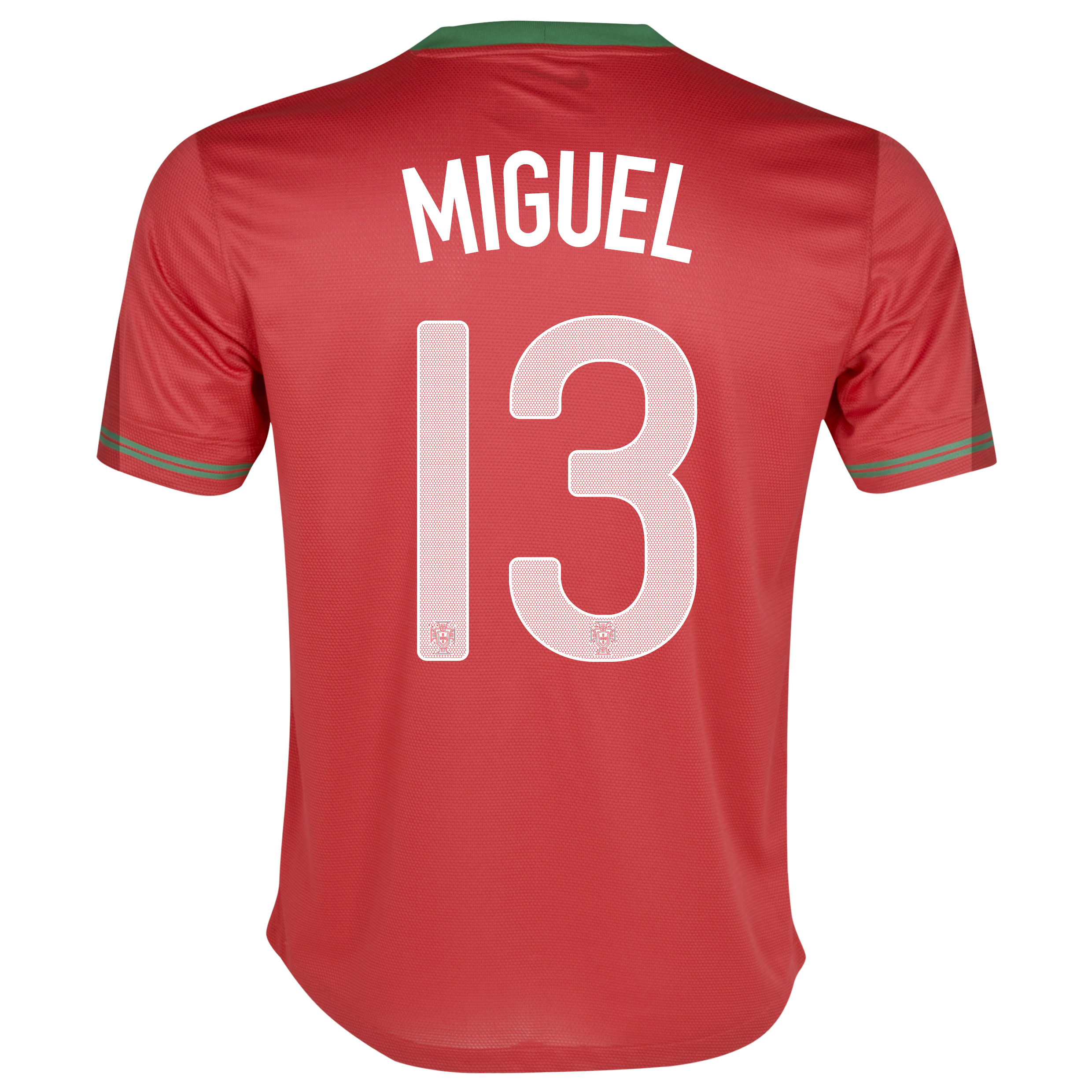 Portugal Home Shirt 2012/13 - Kids with Miguel 13 printing