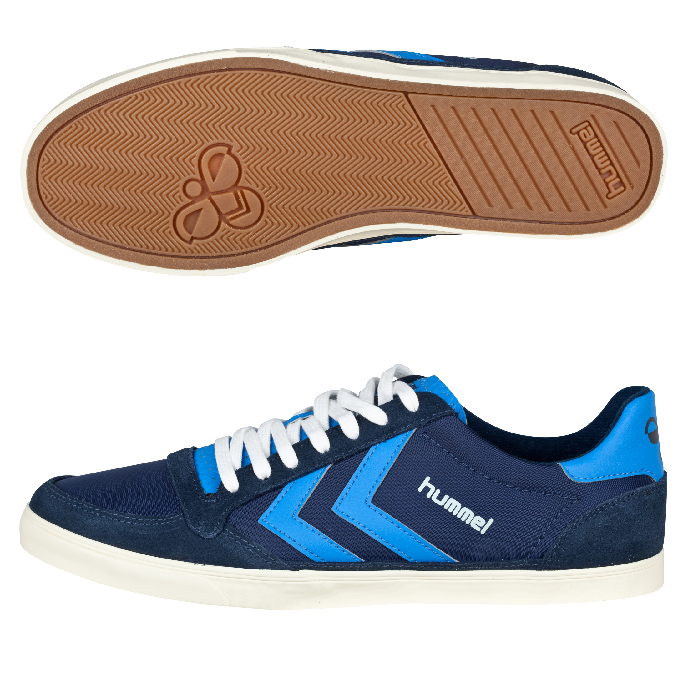 Hummel Slimmer Stadil Retro Low Trainers - Dress Blue/Brill Blue/Pristine