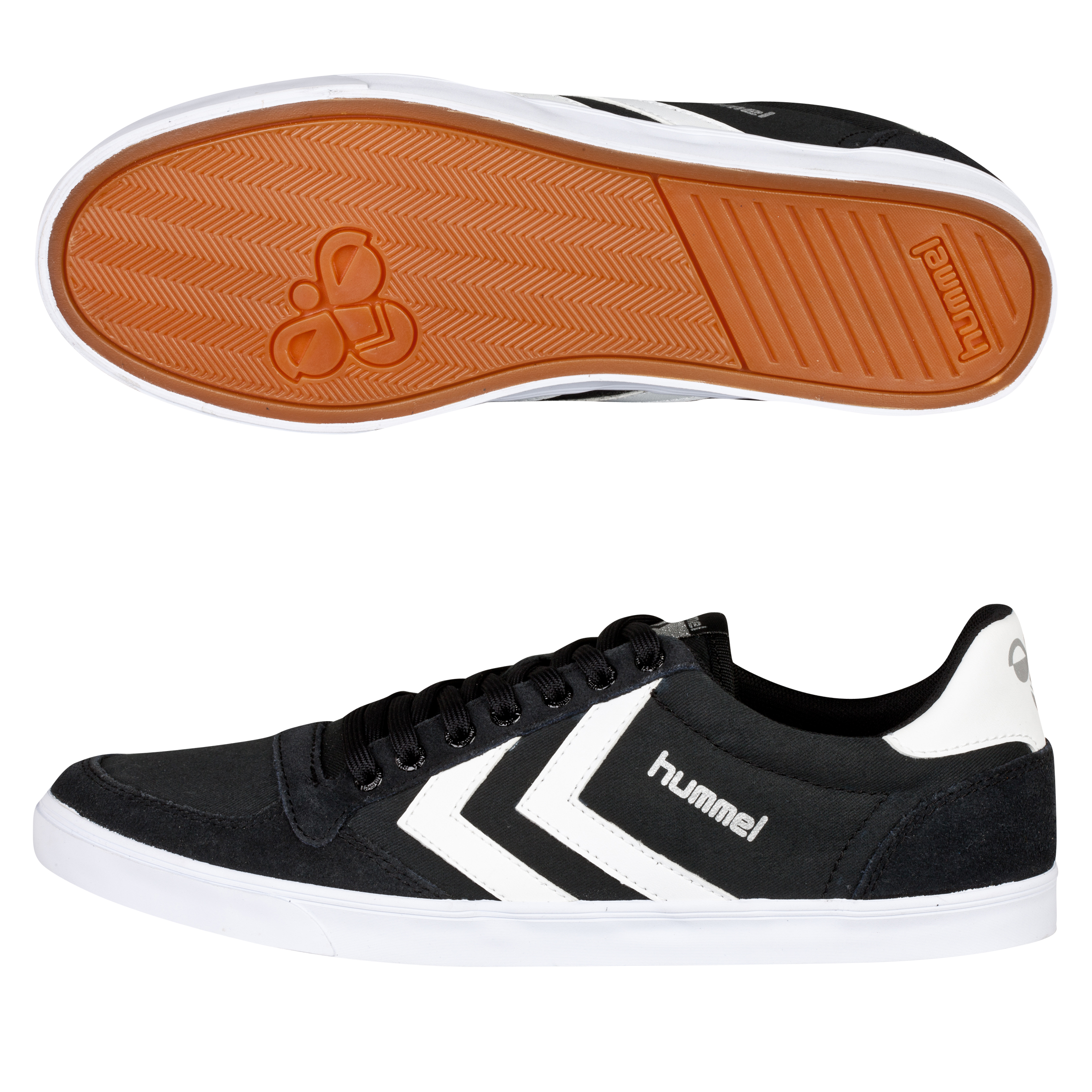 Hummel Slimmer Stadil Low Canvas Trainers - Black/White