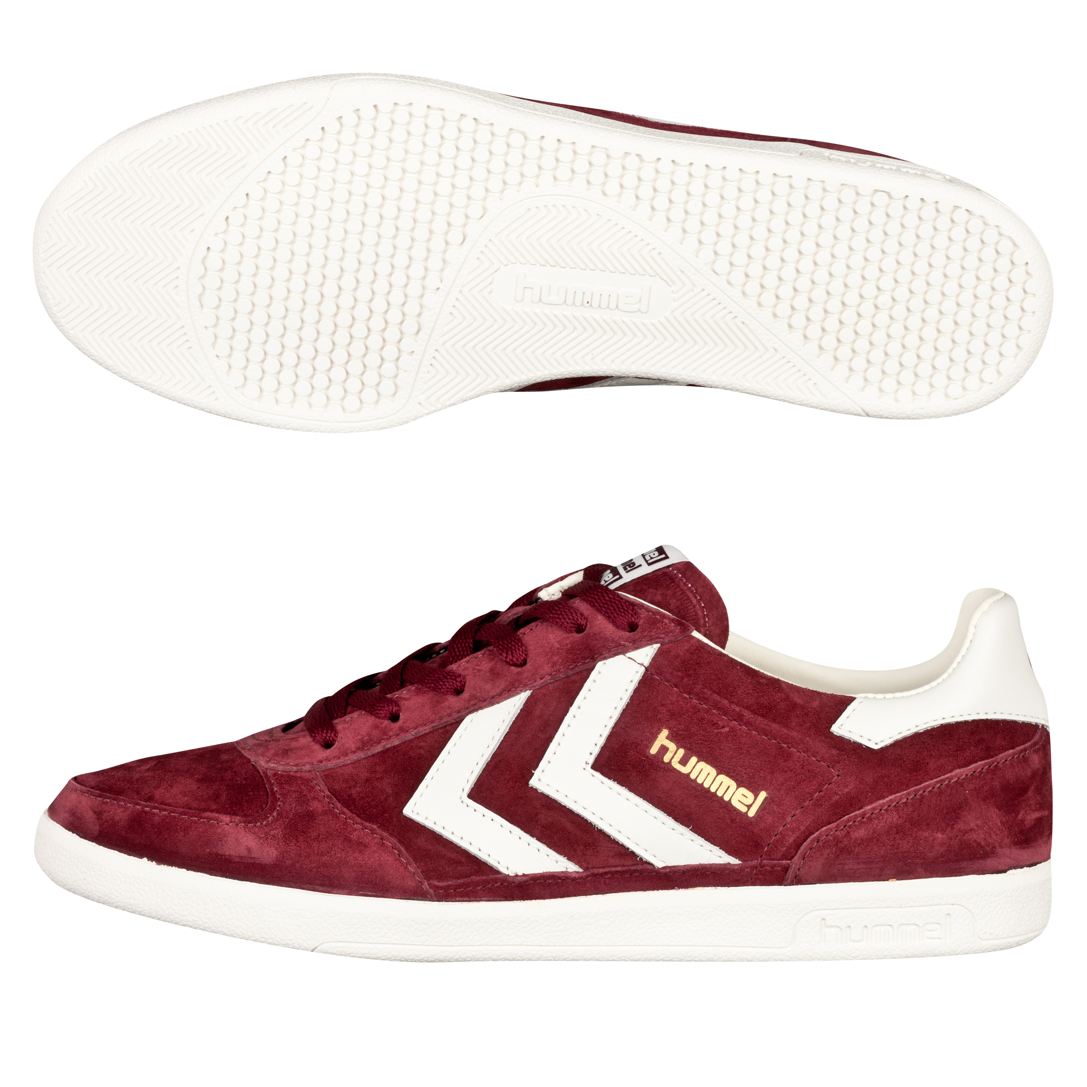 Hummel Victory Low Trainers - Tawney Port/Pristine White
