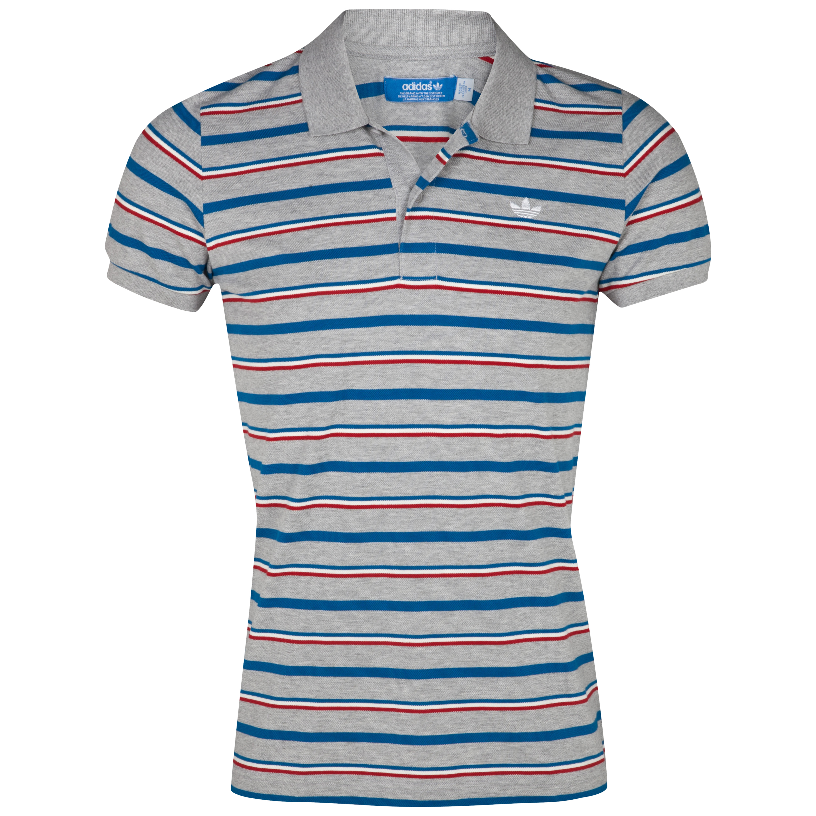 Originals Striped Polo - Medium Grey Heather