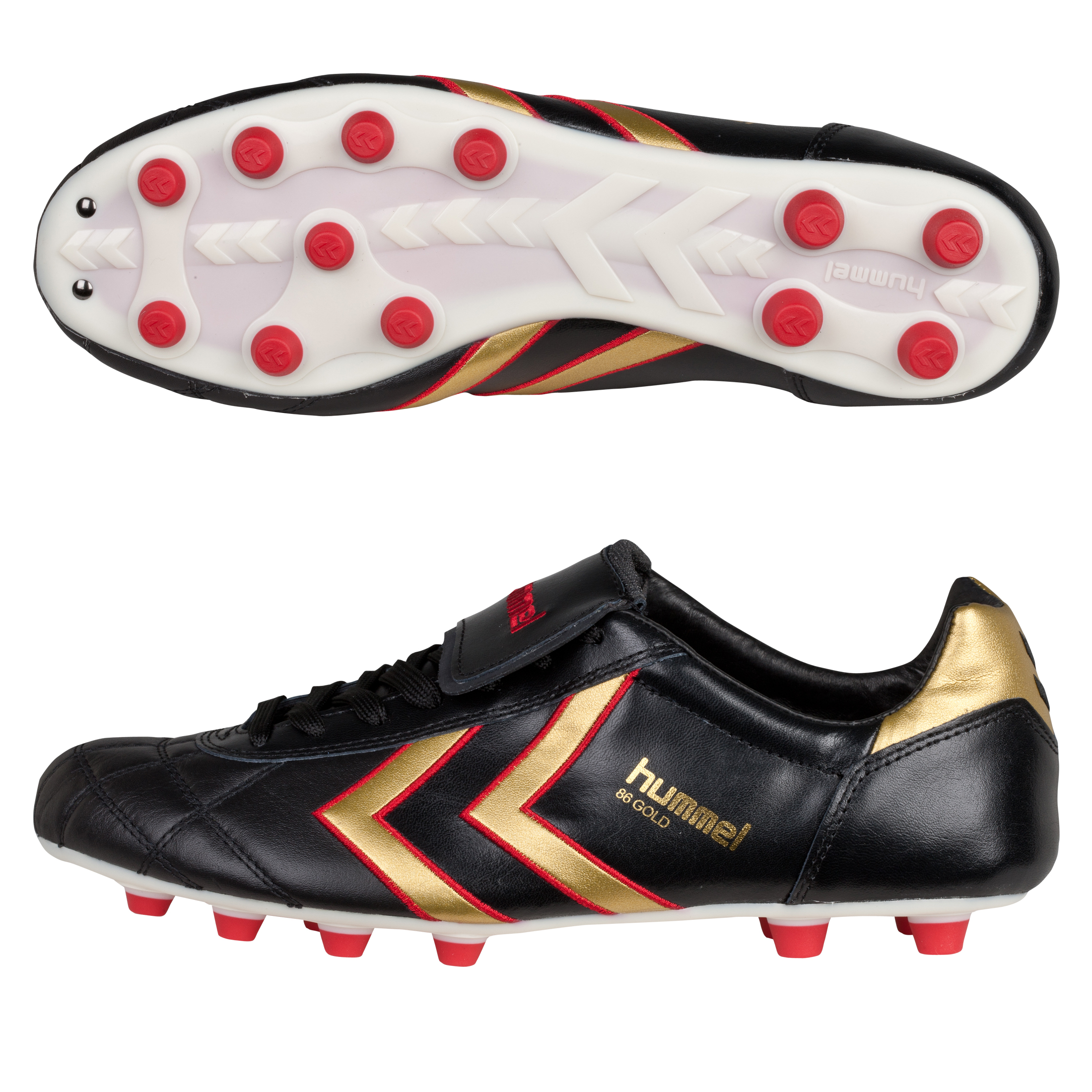Hummel Gold 86 Firm Ground Football Boots - Black/Gold