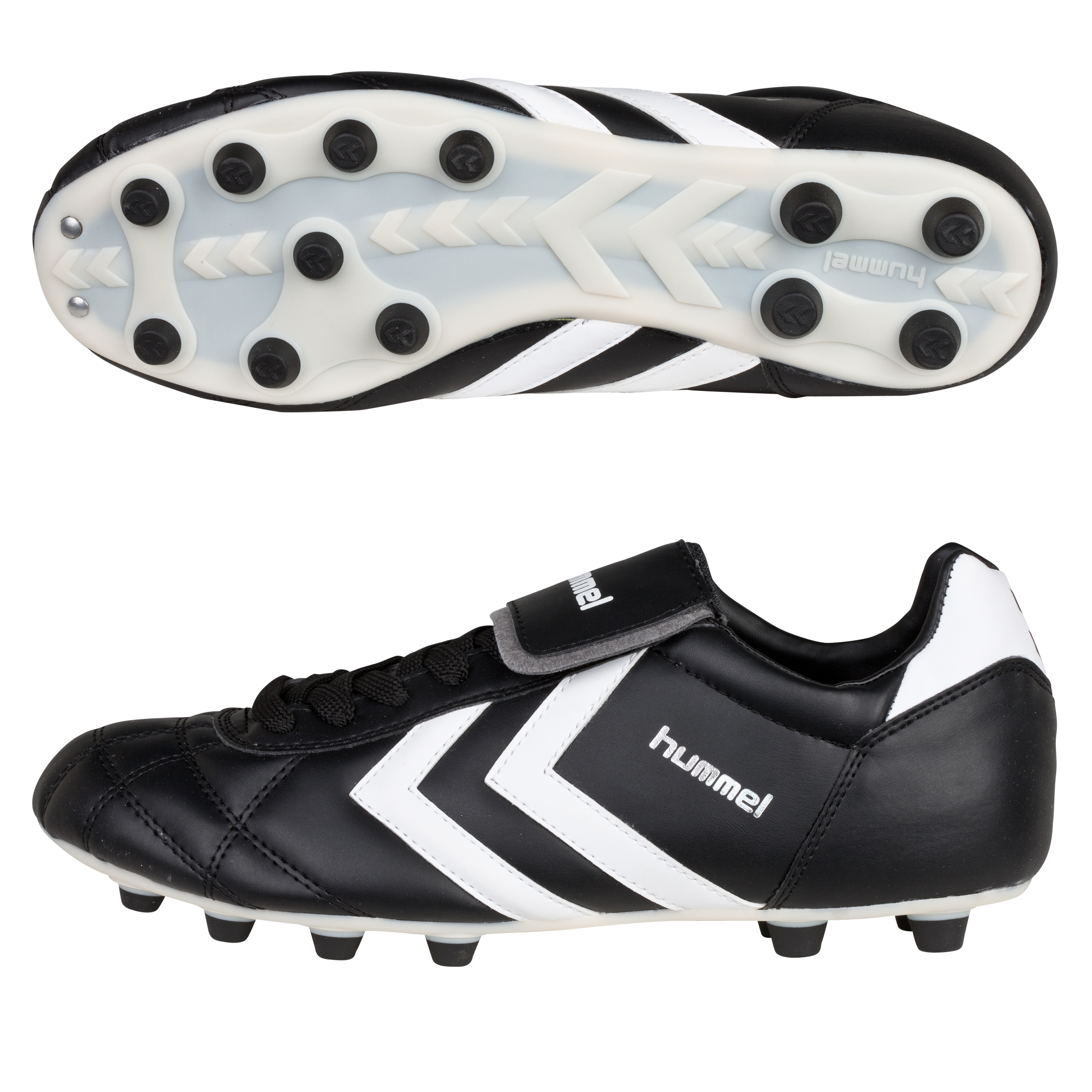 Hummel Old School Star Synthetic Firm Ground Football Boots - Black/White