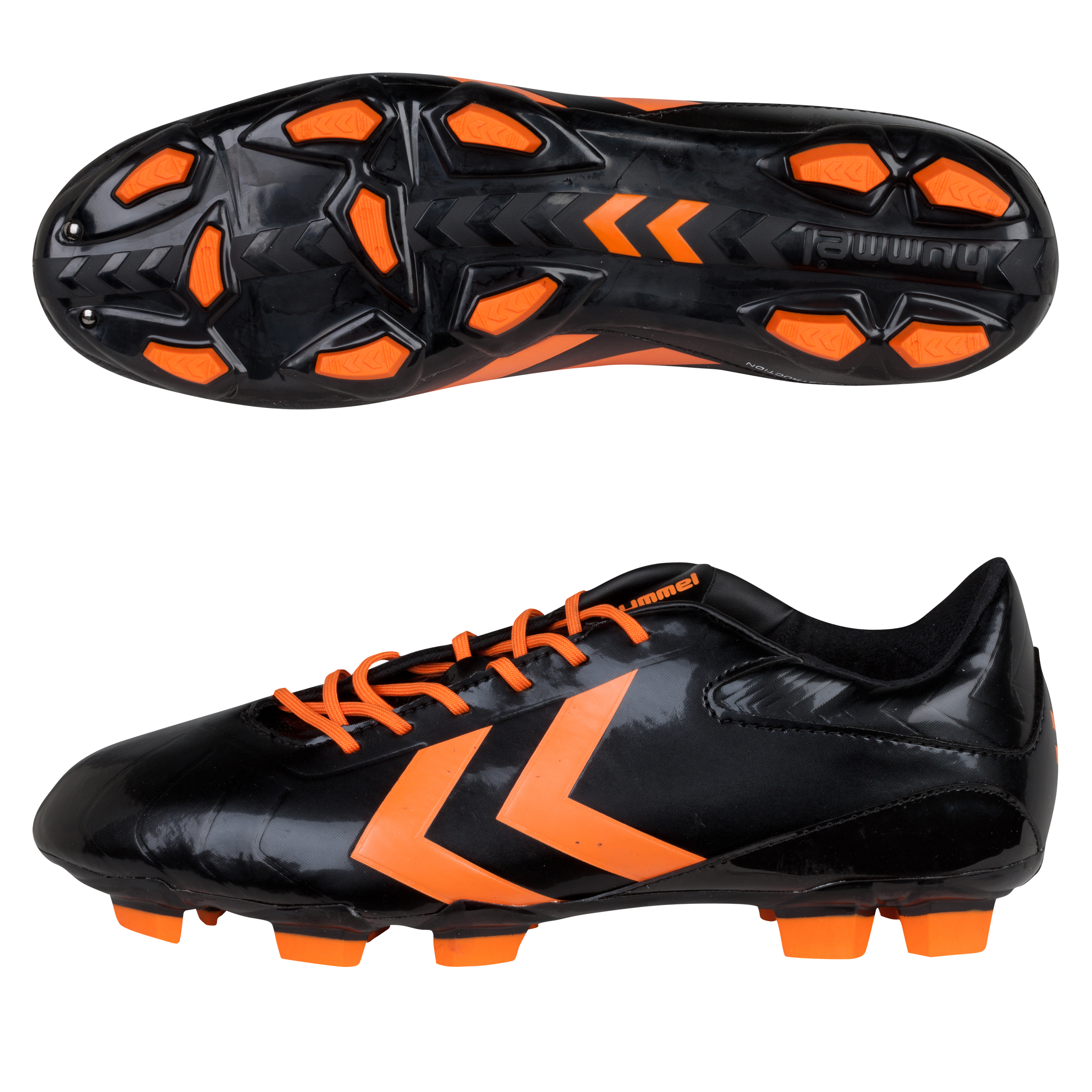 Hummel Rapid Firm Ground Football Boots - Black/Golden Poppy