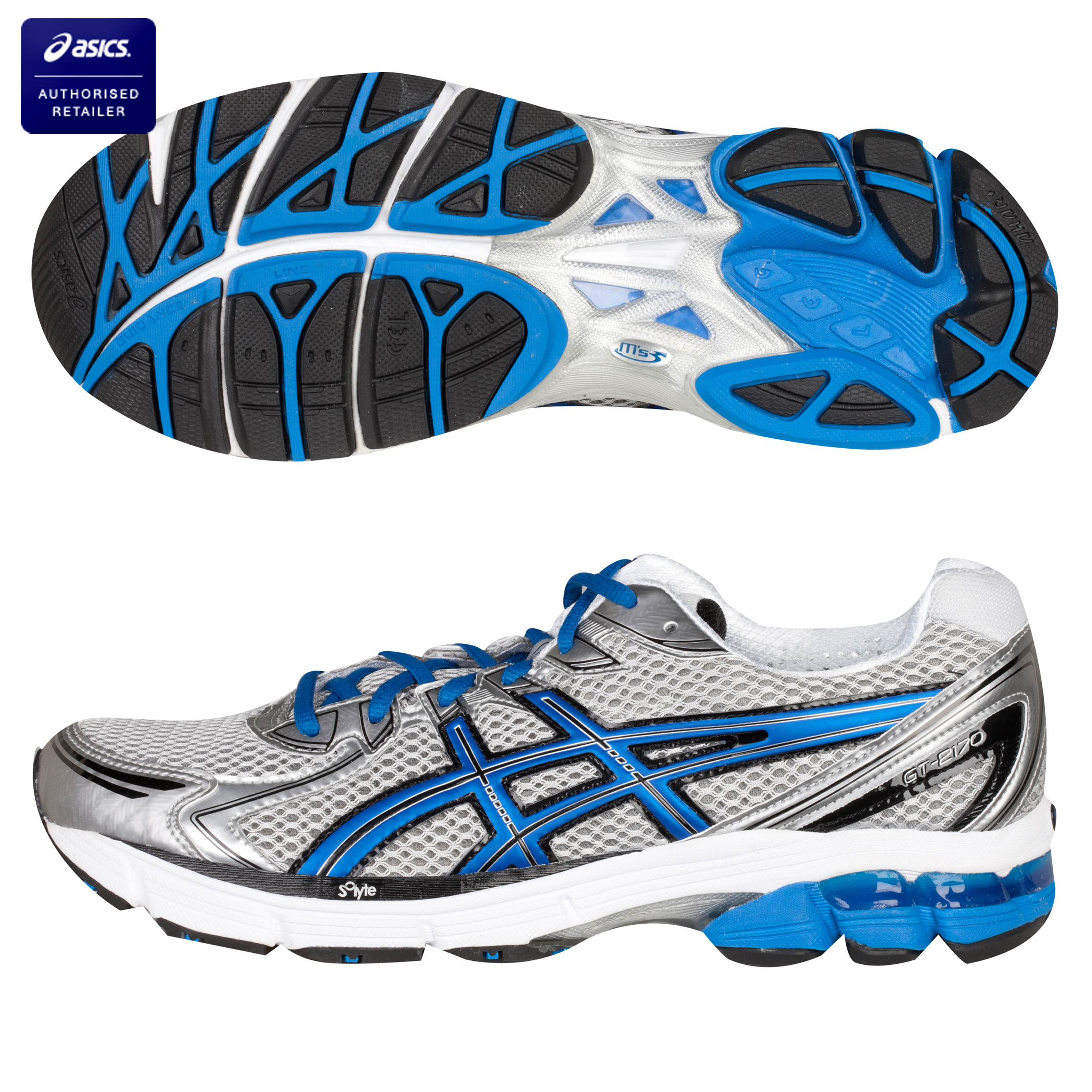Asics GT-2170 Running Trainers - Lightning/Electric Blue/Black