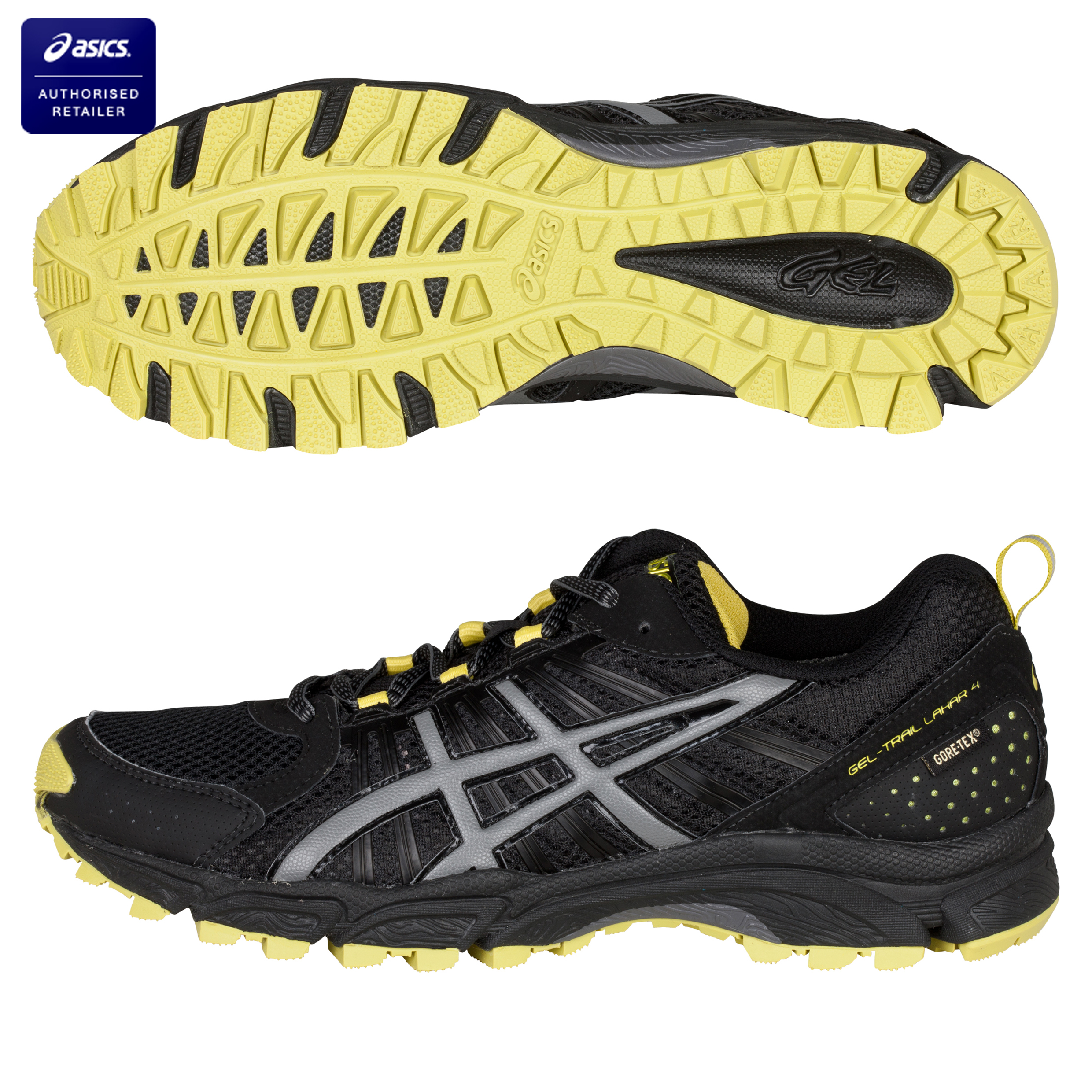 Asics Gel-Trail Lahar 4 G-TX Running Trainers - Black/Carbon/Sulphur