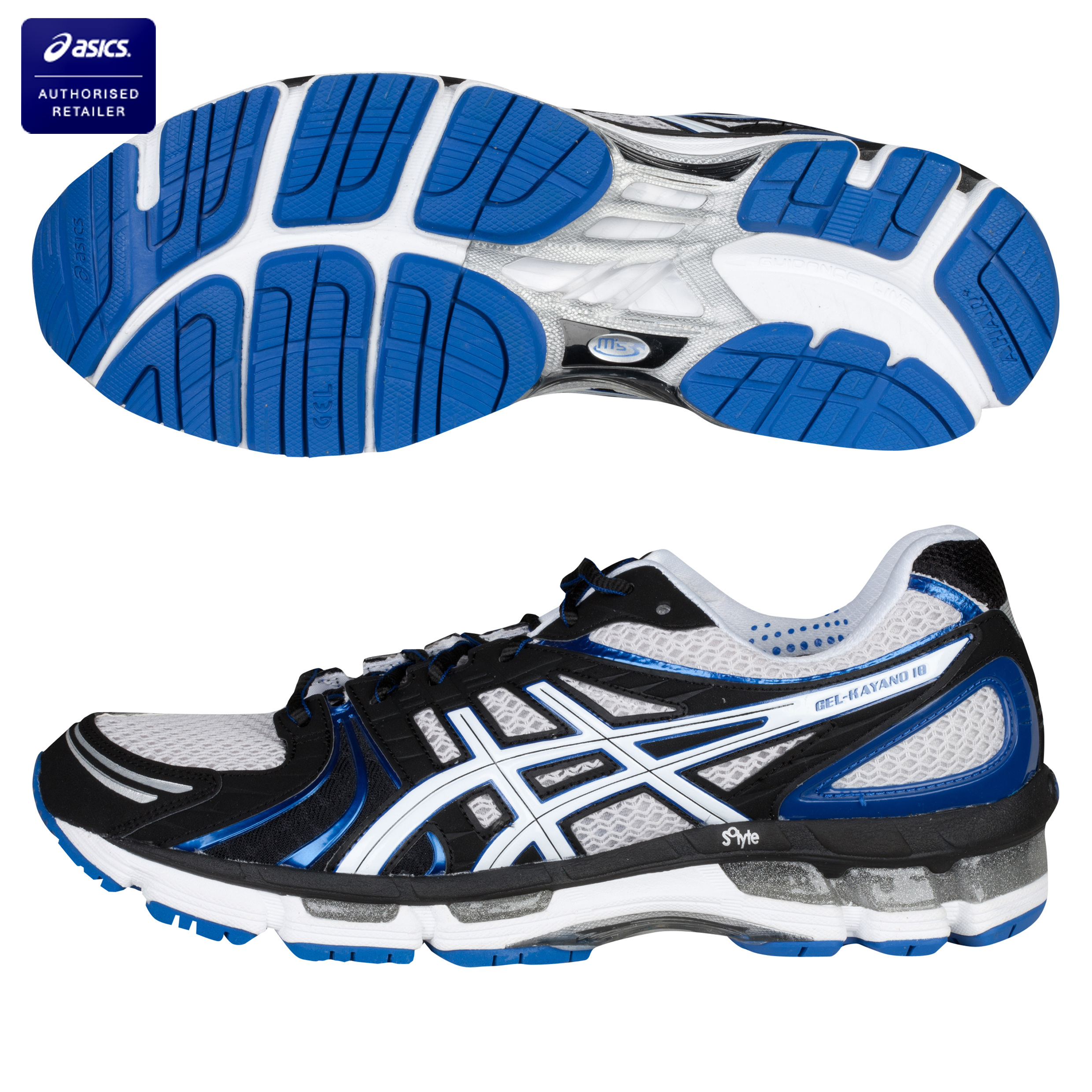 Asics Gel-Kayano 18 Running Trainers - Lightning/White/Royal
