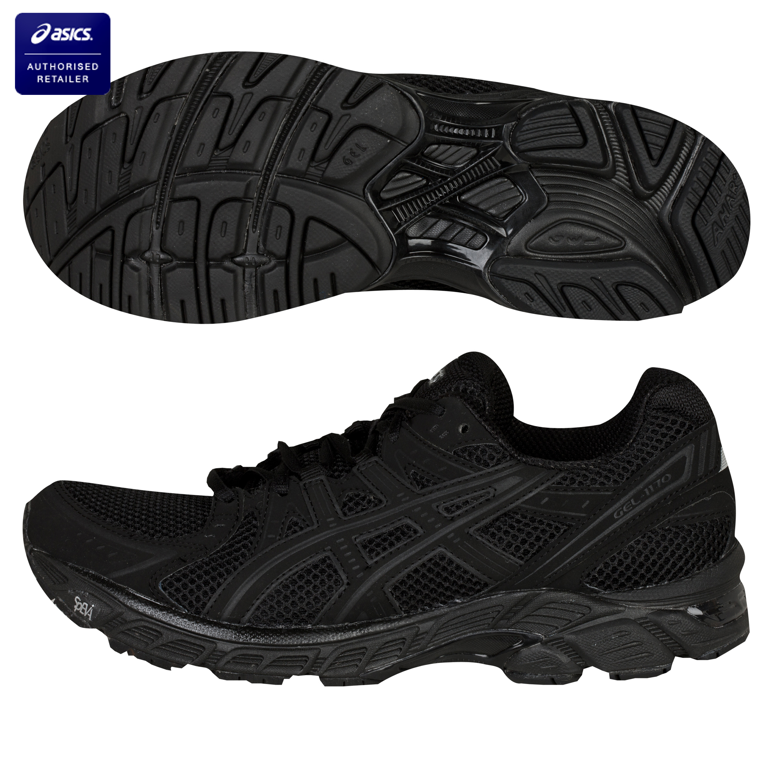Asics Gel-1170 Trainers - Black/Onyx/Graphite  - Womens