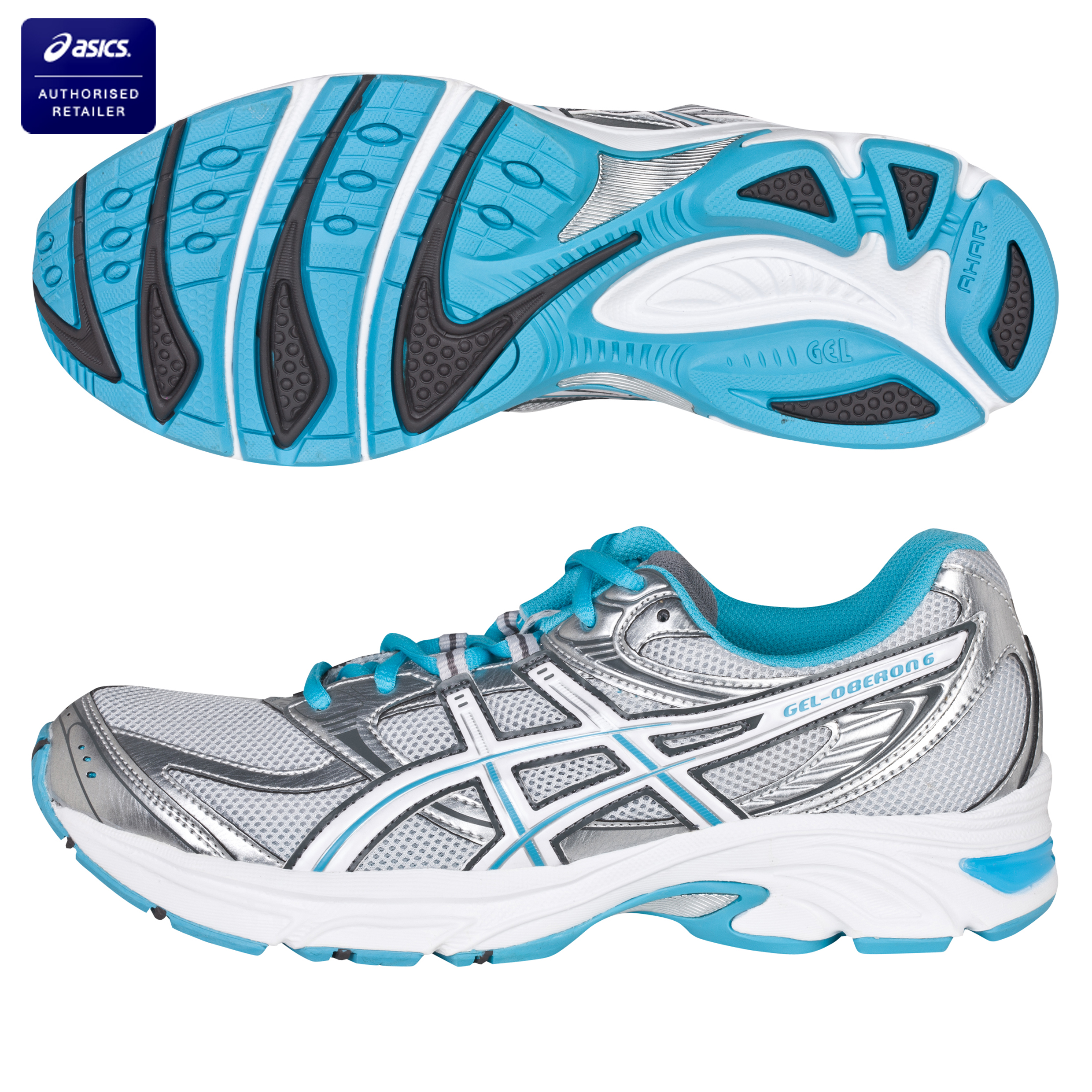 Asics Gel-Oberon 6 Running Trainers - Lightning/Charcoal/White - Womens