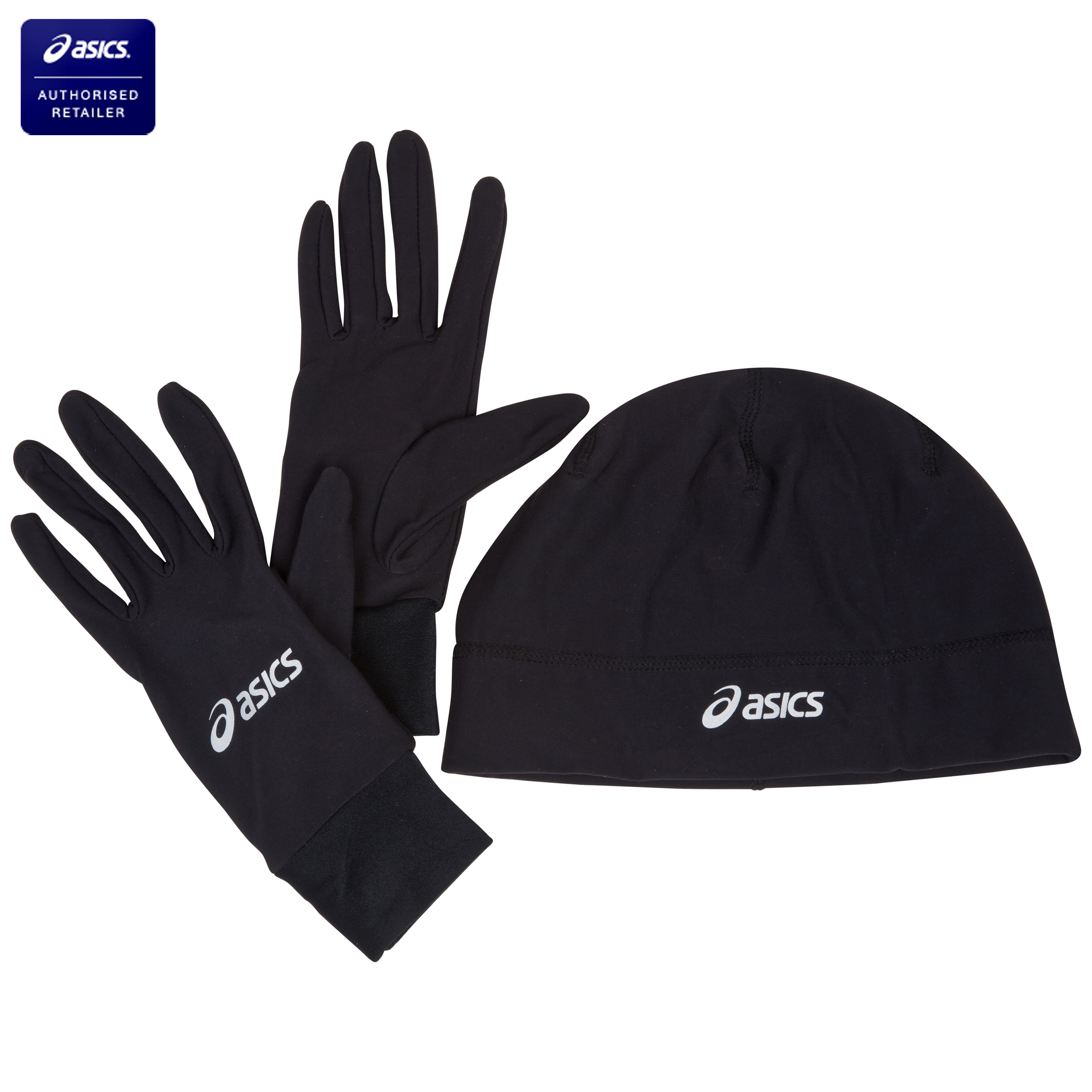 Asics Running Pack (Beanie and Gloves) - Performance Black