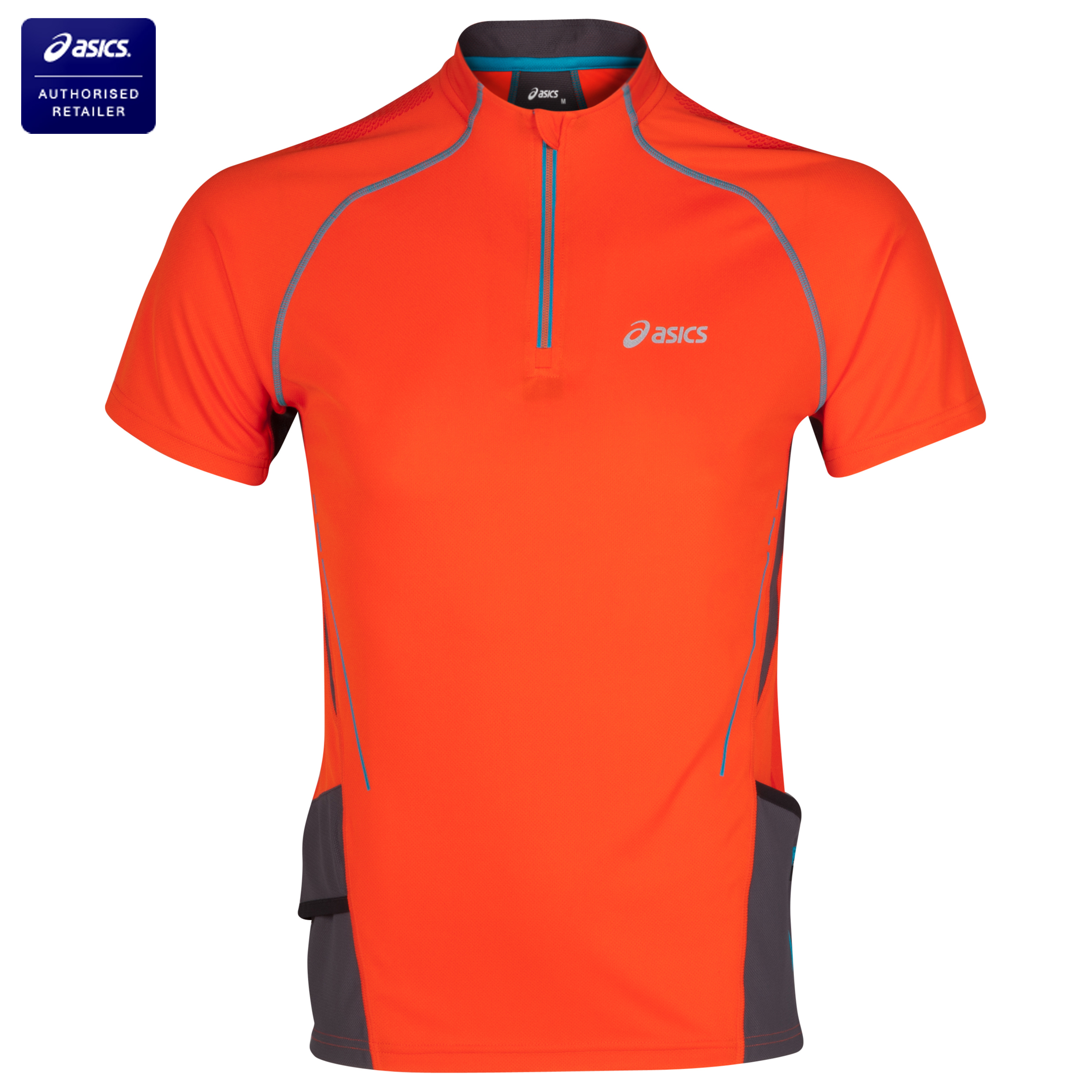 Asics Trail Zip Top - Cone Orange