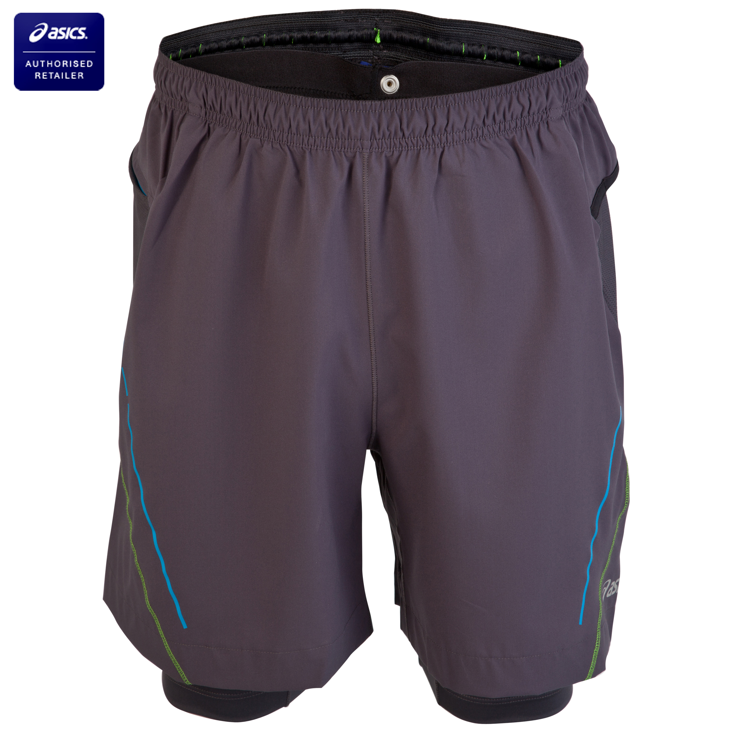 Asics Trail 2-in-1 Shorts - Iron