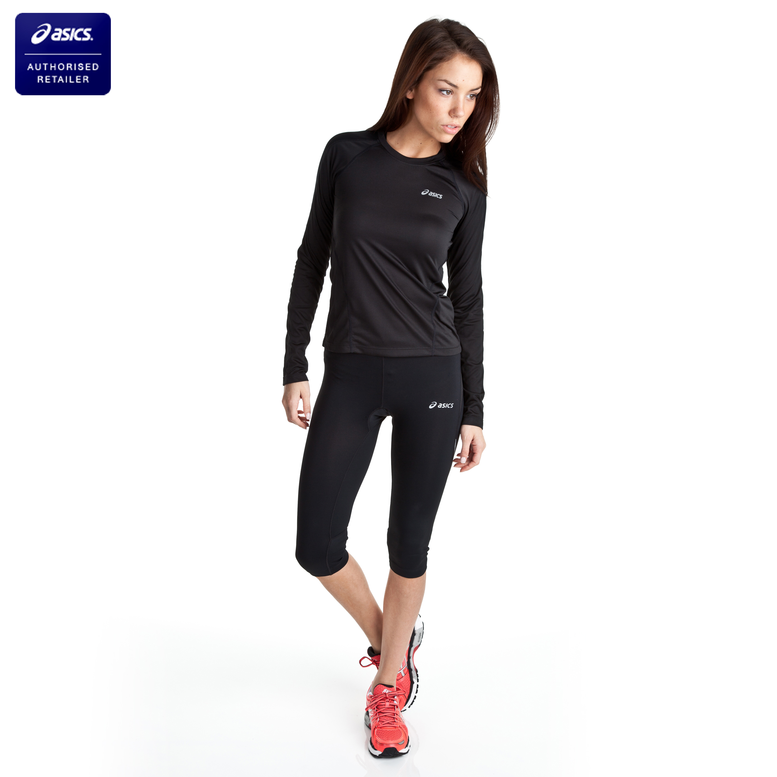 Asics Vesta Knee Tight - Black - Womens
