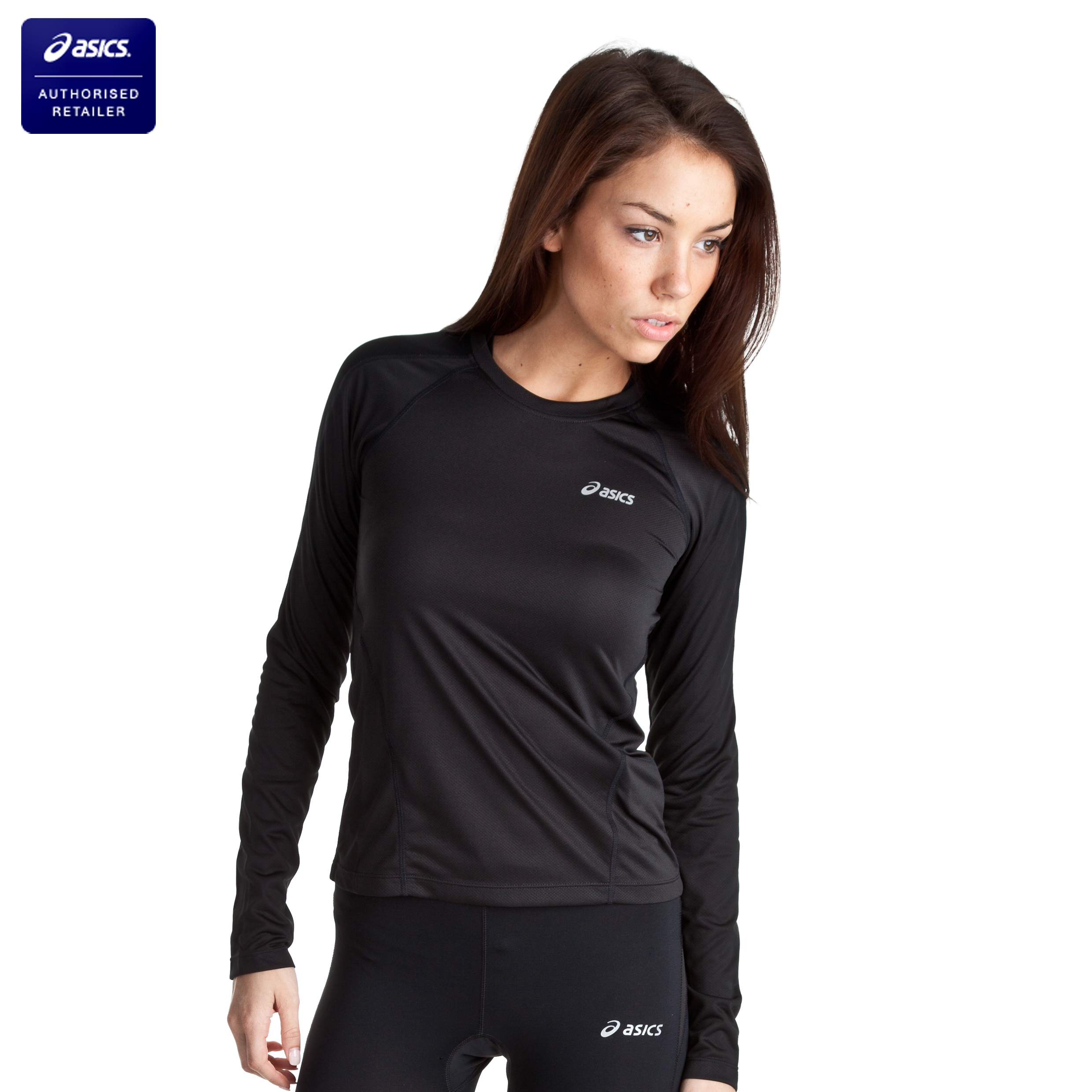 Asics Vesta Long Sleeved Crew - Black - Womens