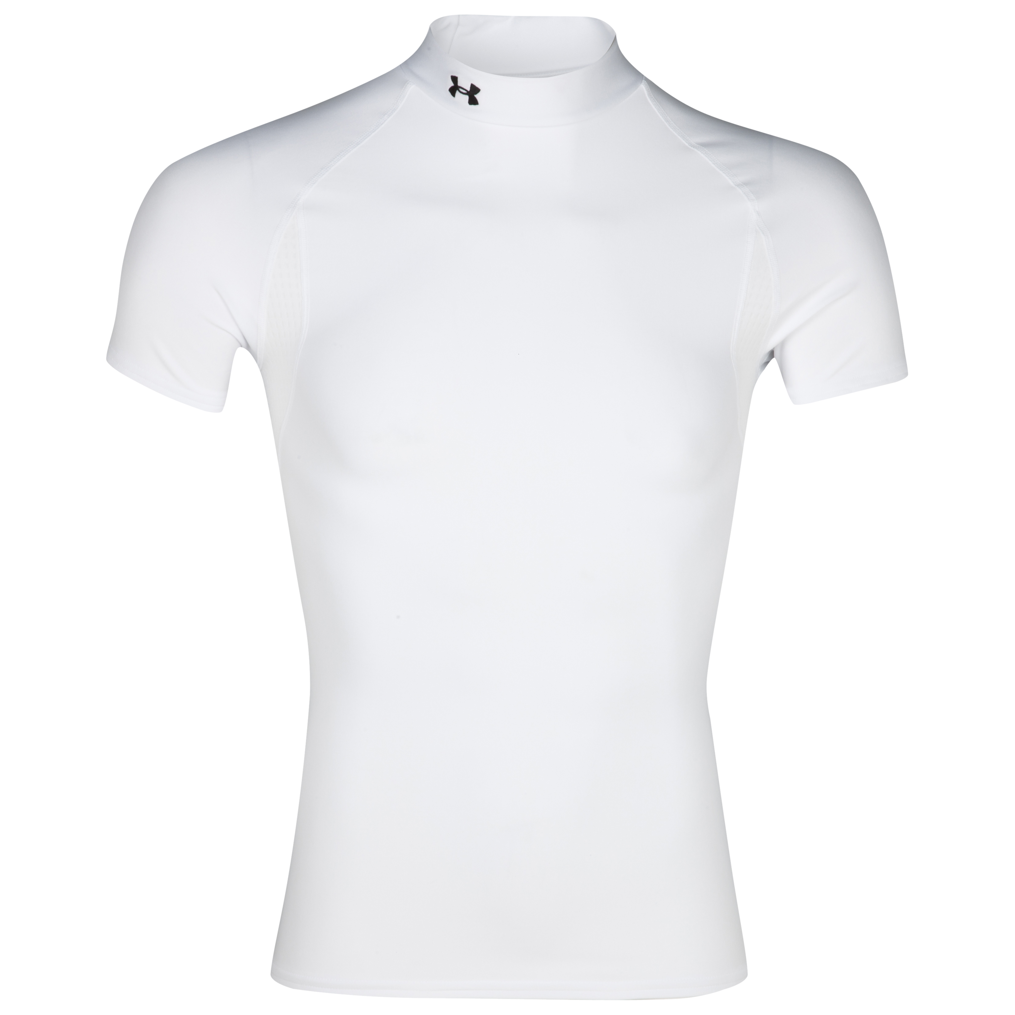 Under Armour Coldgear Short Sleeve Evo Mock Top - White
