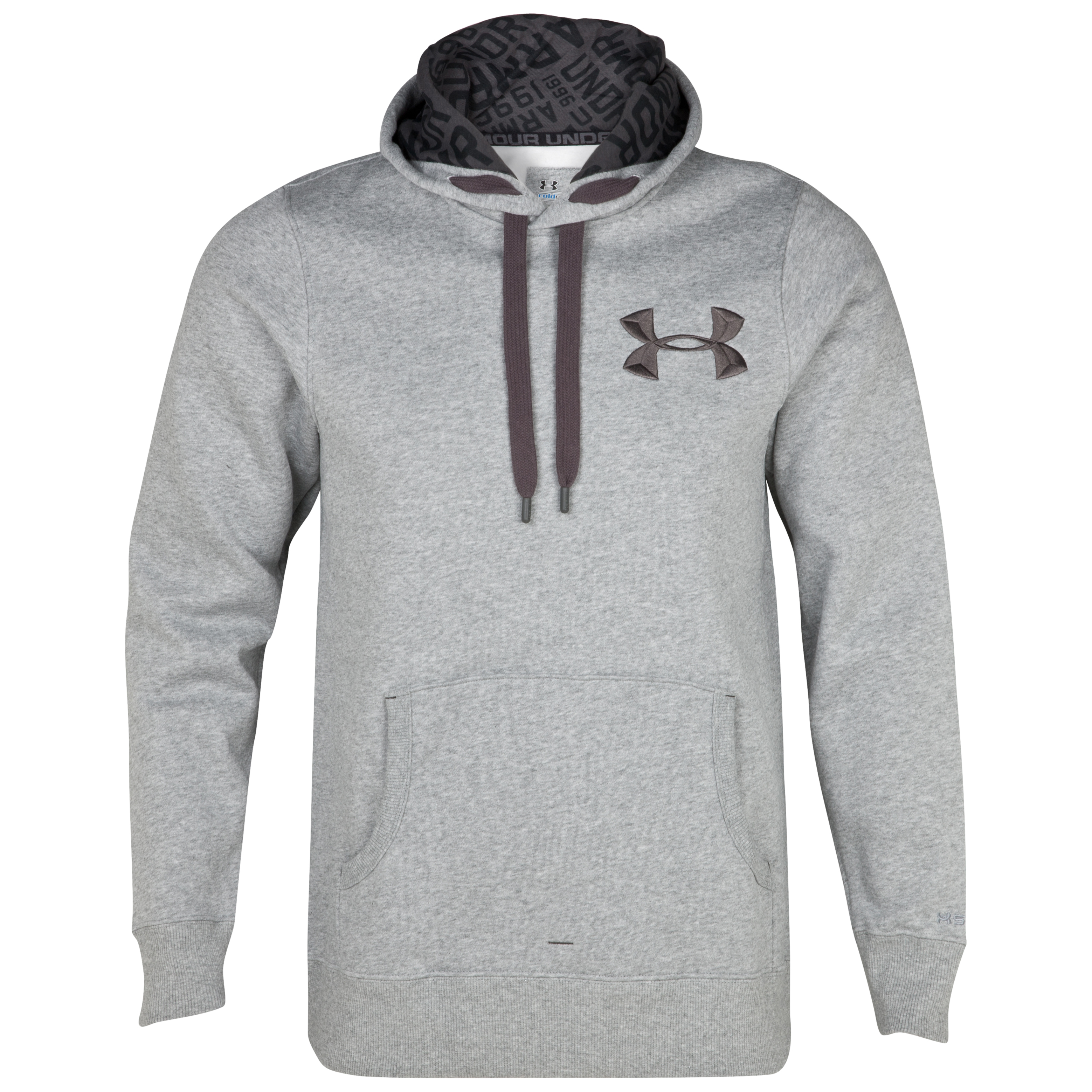 Under Armour Charged Cotton Storm Fleece Hoody - True Grey Heather/Charcoal