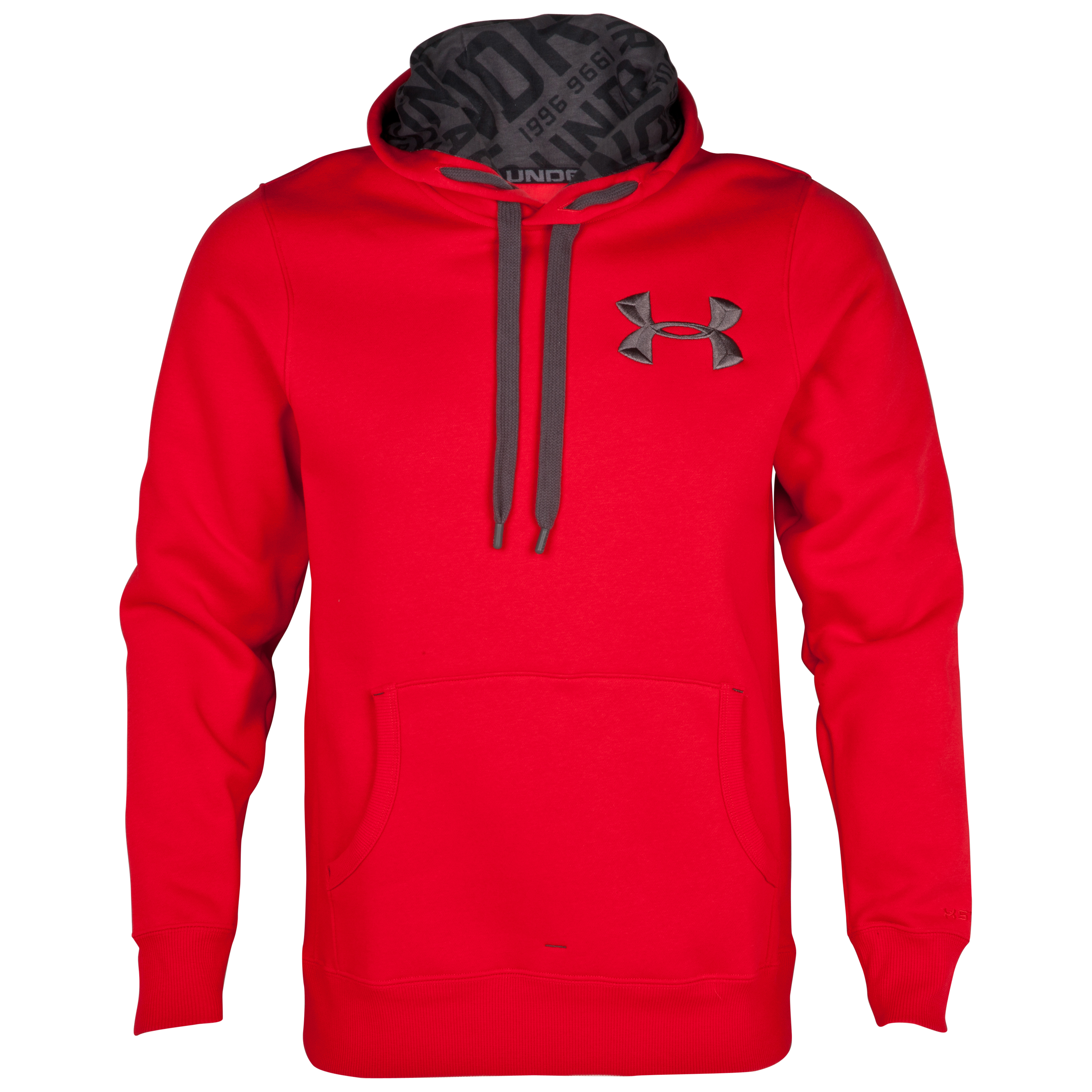 Under Armour Charged Cotton Storm Fleece Hoody - Red/Charcoal