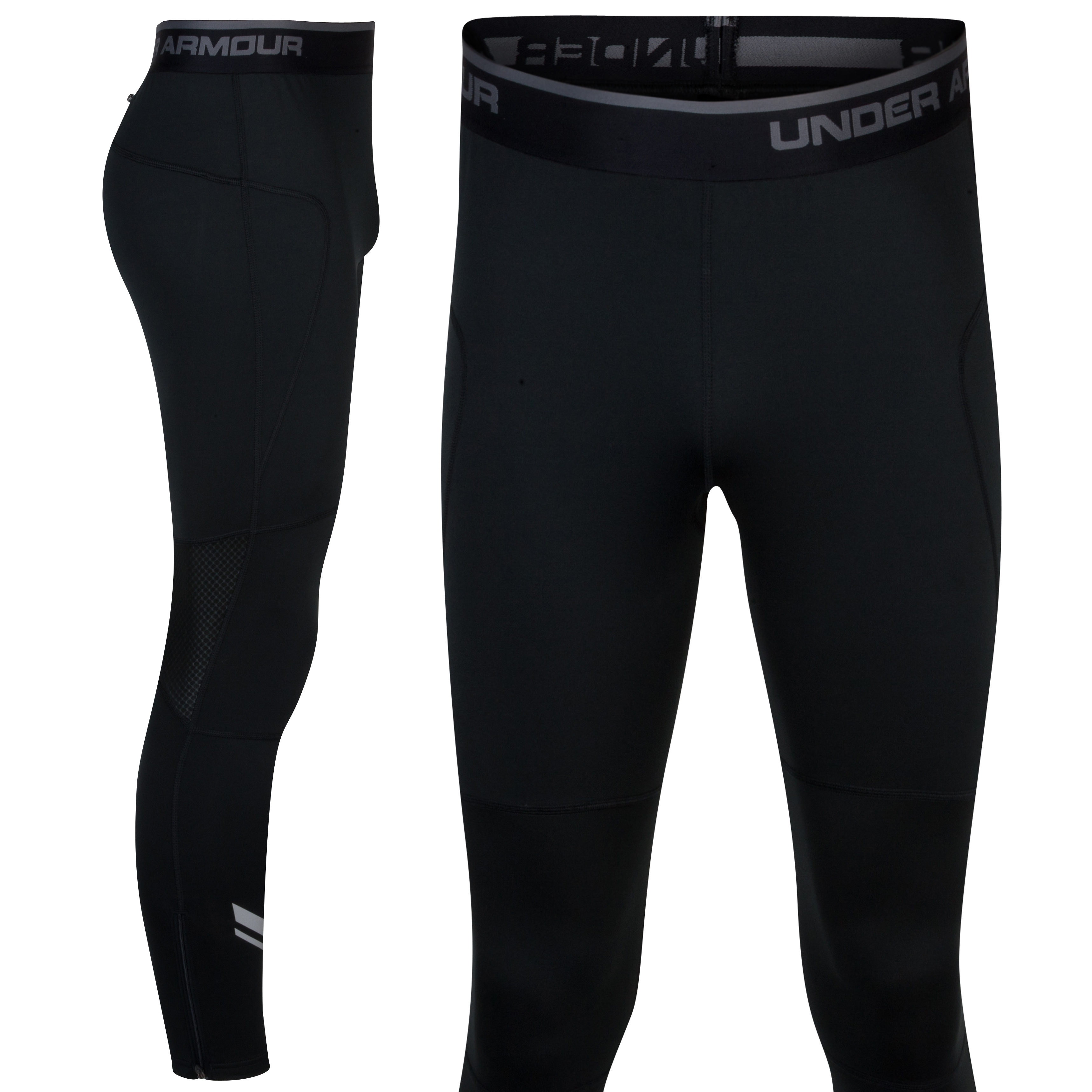 Under Armour Run Cold Gear Tights - Black/GPH