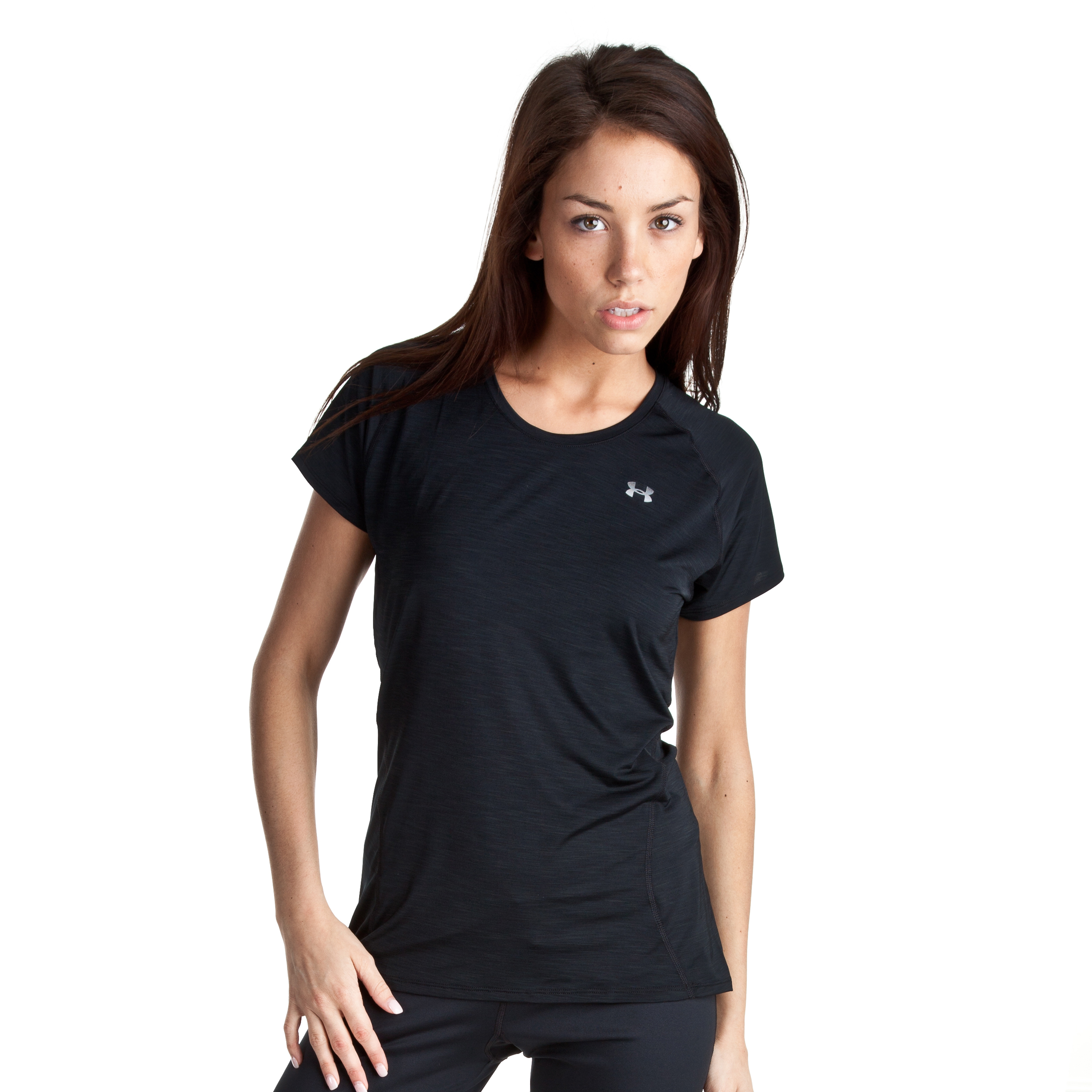 Under Armour Escape Get Started Short Sleeve T-Shirt - Black/HVY - Womens