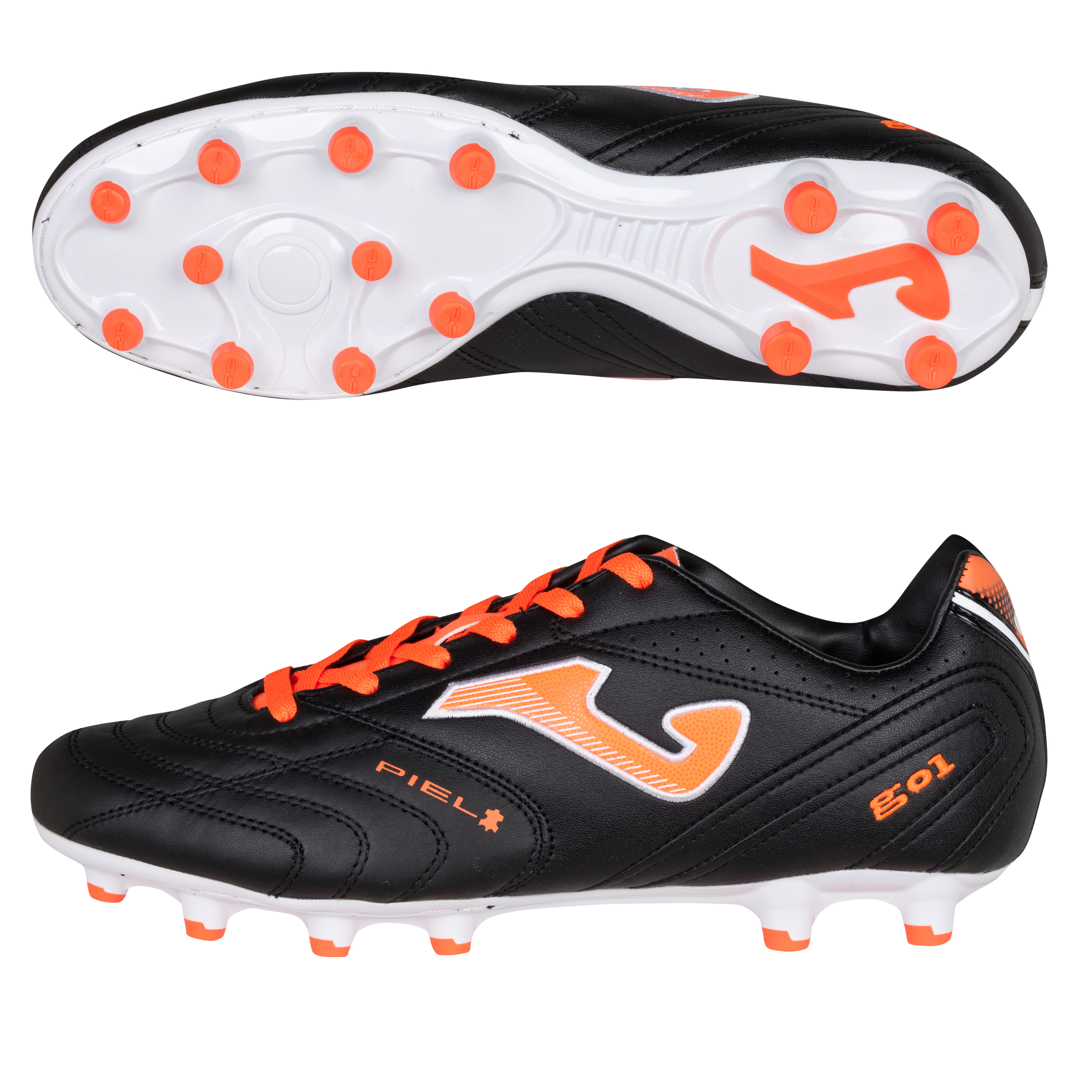 Joma Gol Firm Ground Football Boots - Black/Orange
