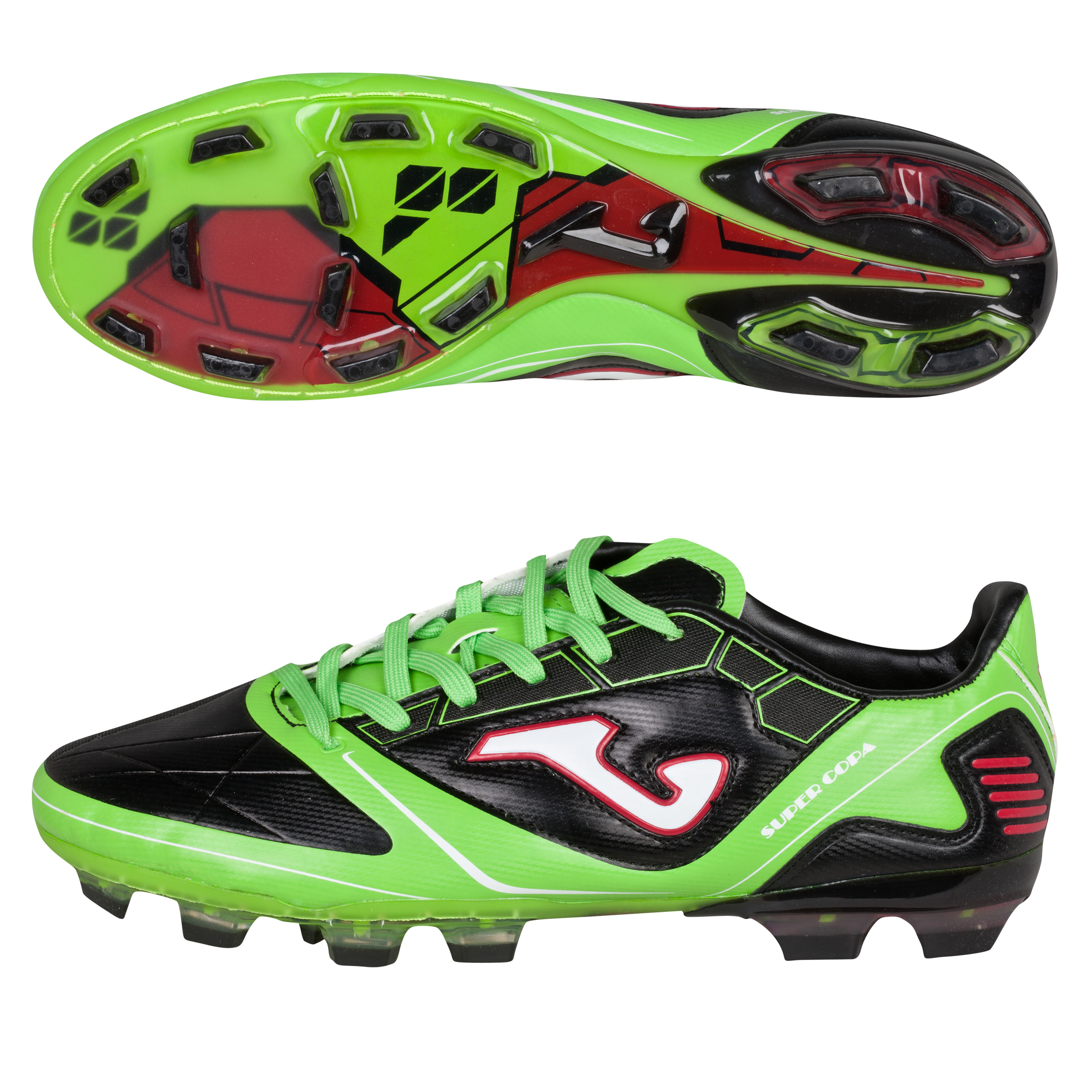 Joma Super Copa FG Black/Green