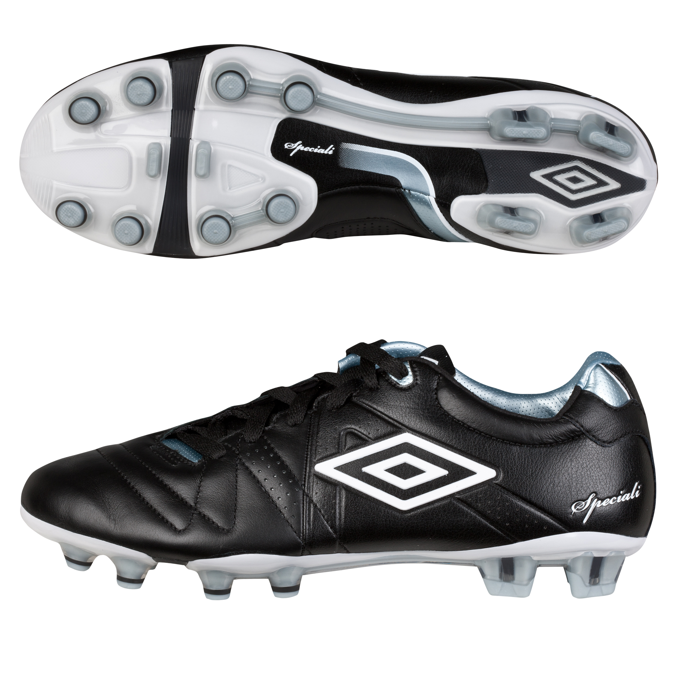 Umbro Speciali 3 Pro Hard Ground Football Boots - Black/White/Chrome