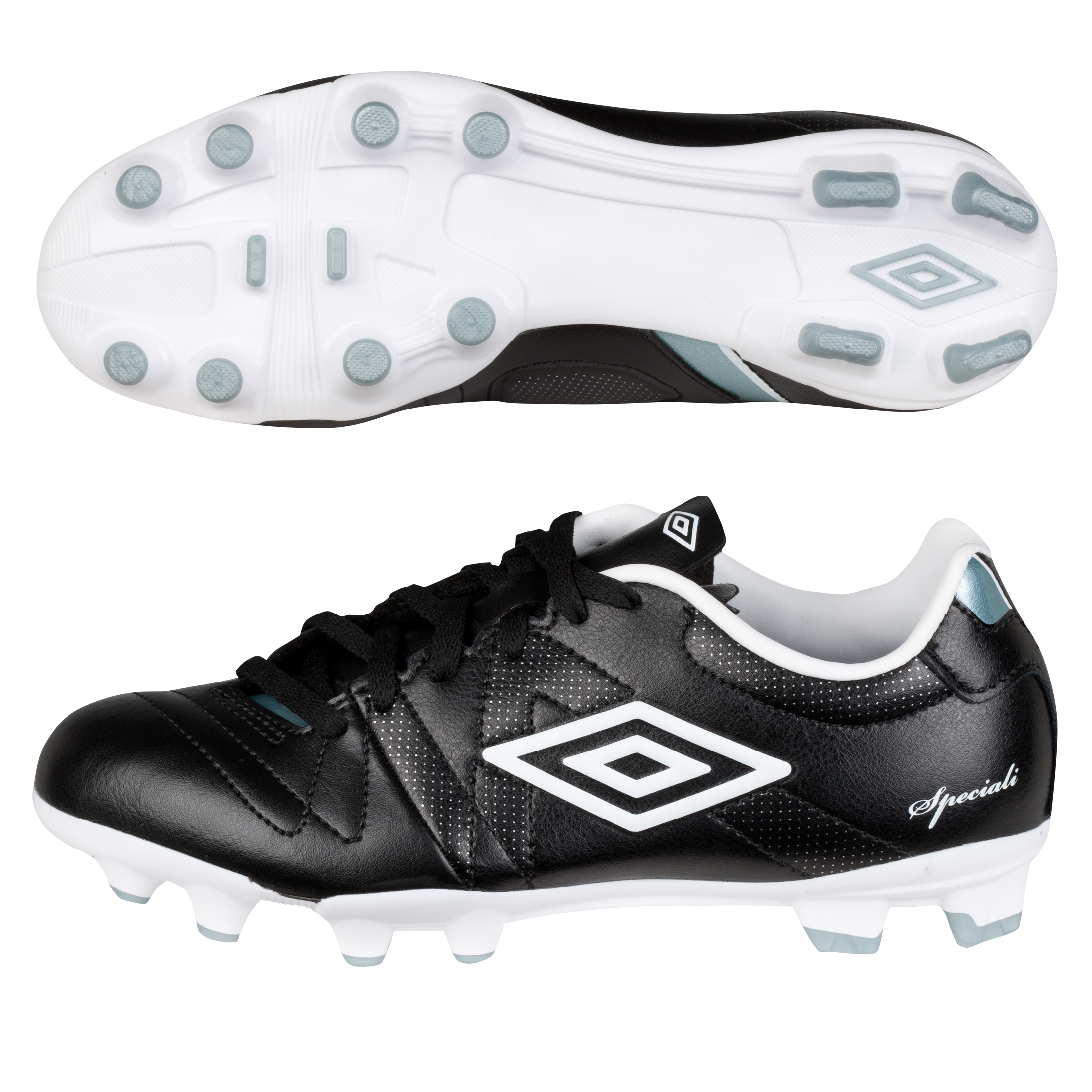 Umbro Speciali 3 Hard Ground Football Boots - Black/White/Chrome