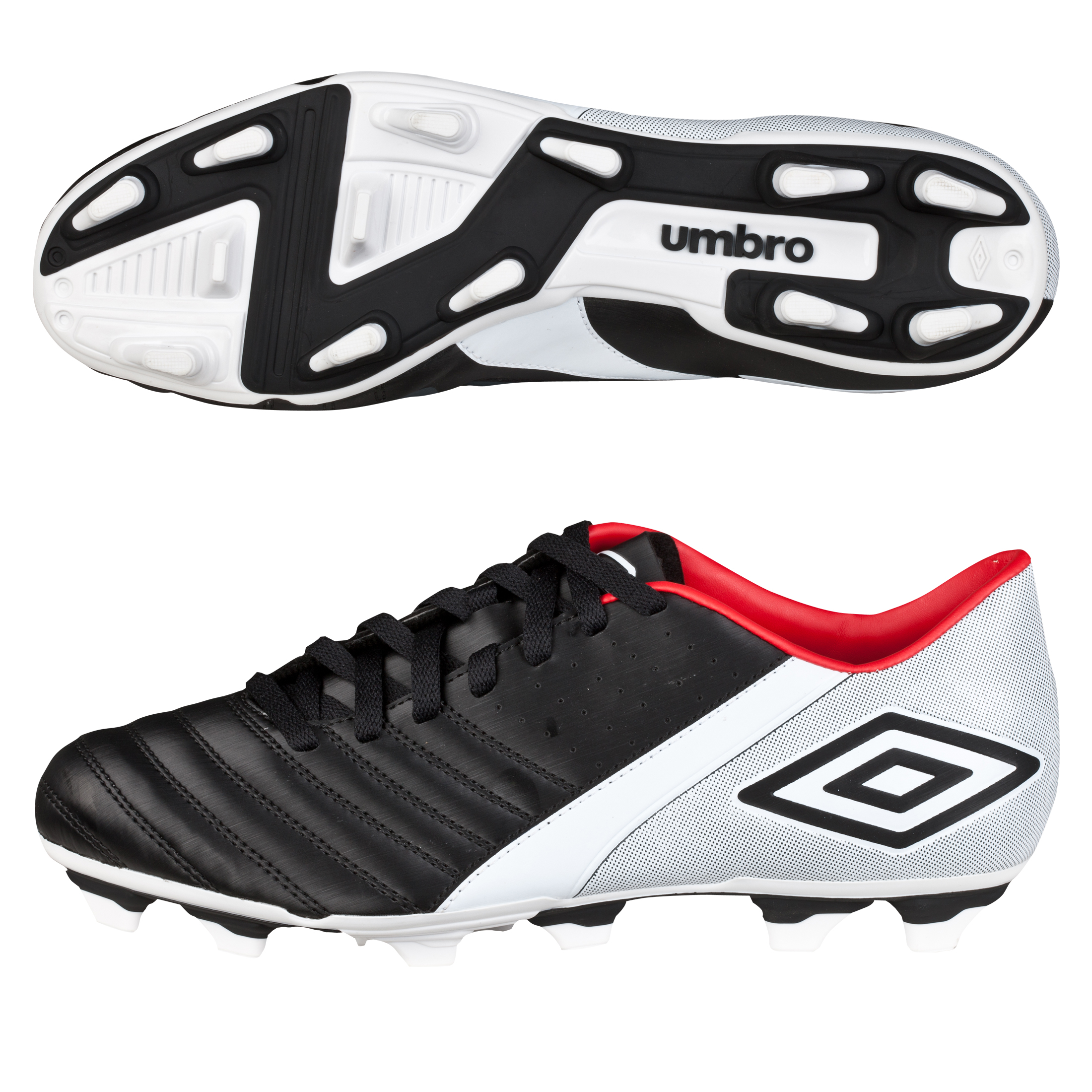 Umbro Extremis Firm Ground Football Boots - Black/White/True Red