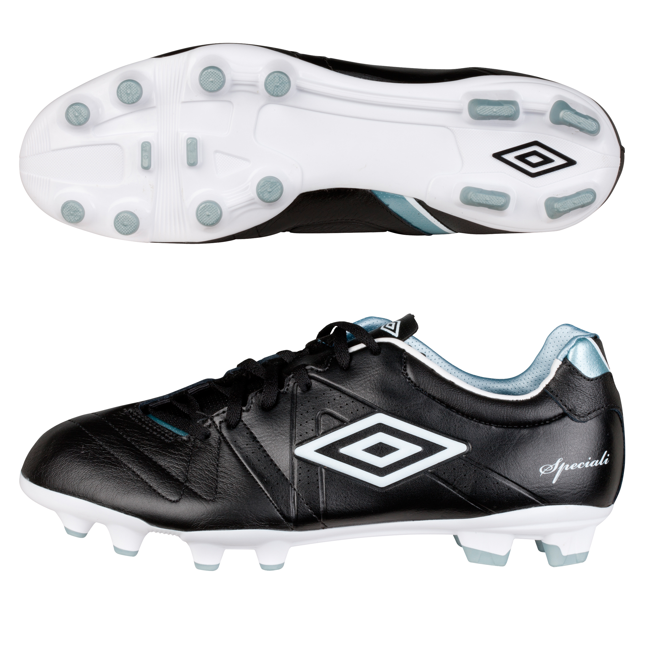Umbro Speciali 3 Cup Hard Ground Football Boots - Black/White/Chrome - Kids