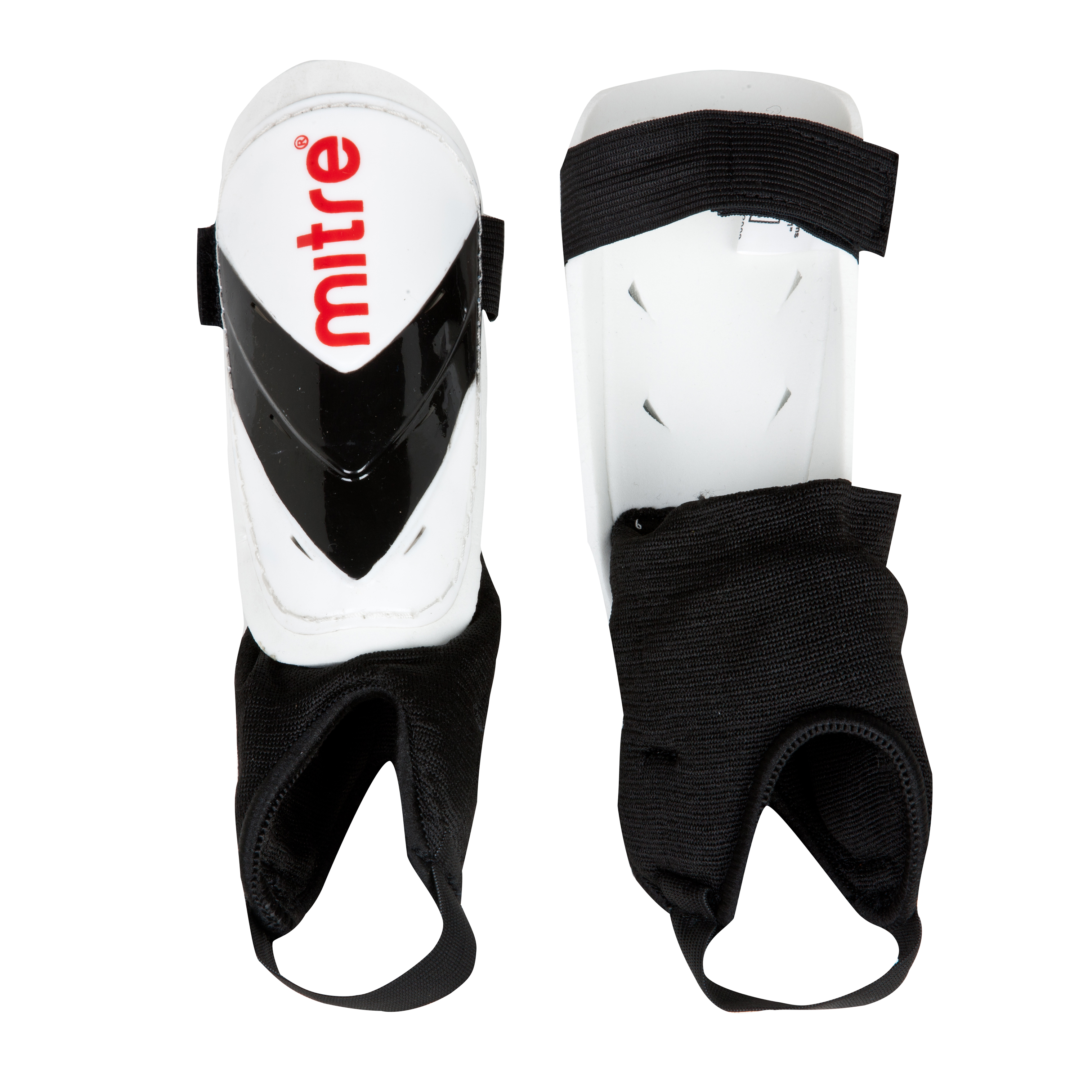 Mitre Mayan Shinguards - White/Black/Red