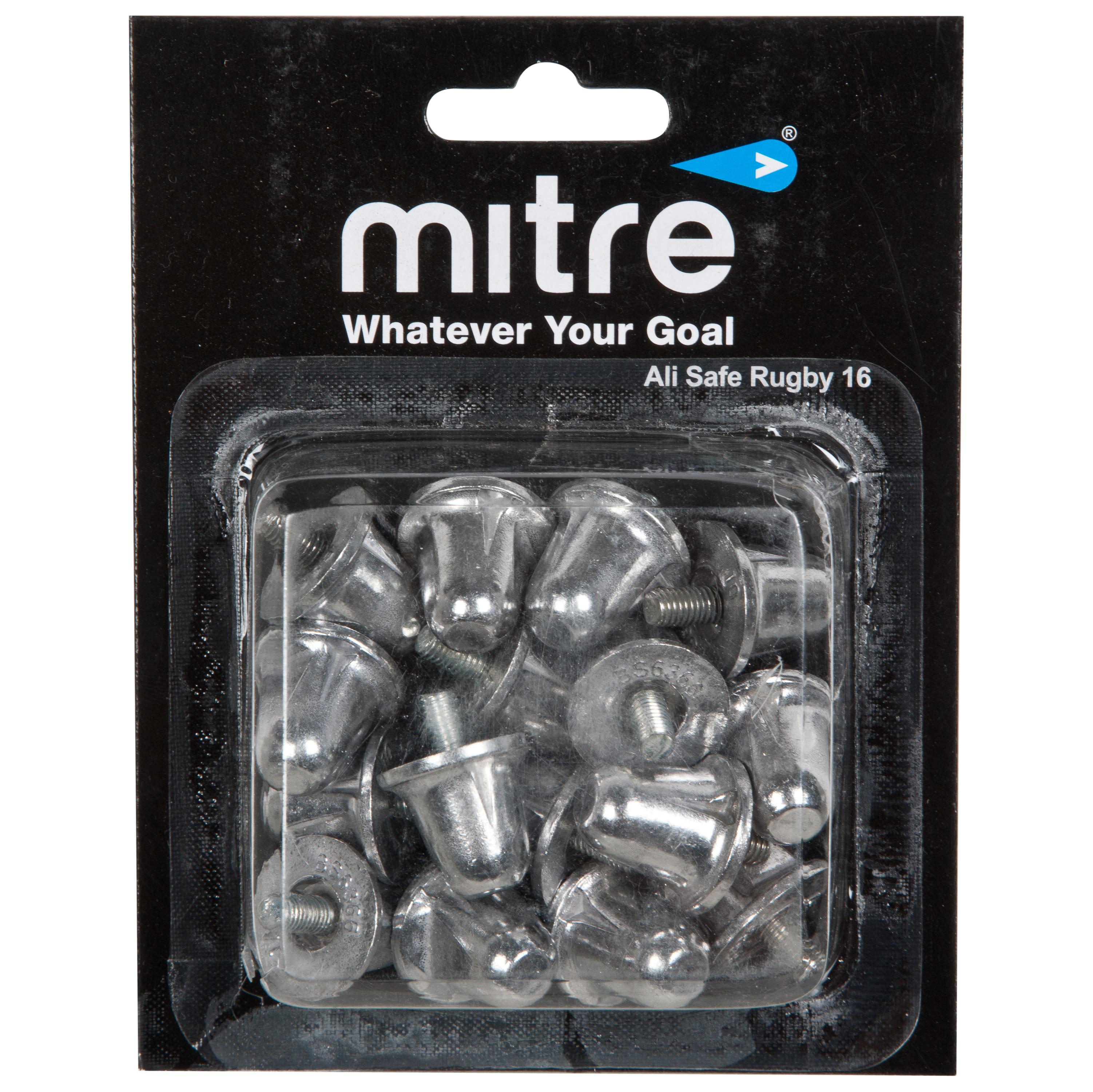 Mitre Ali Safe Rugby 16 Studs (10 Pack) - Metalic