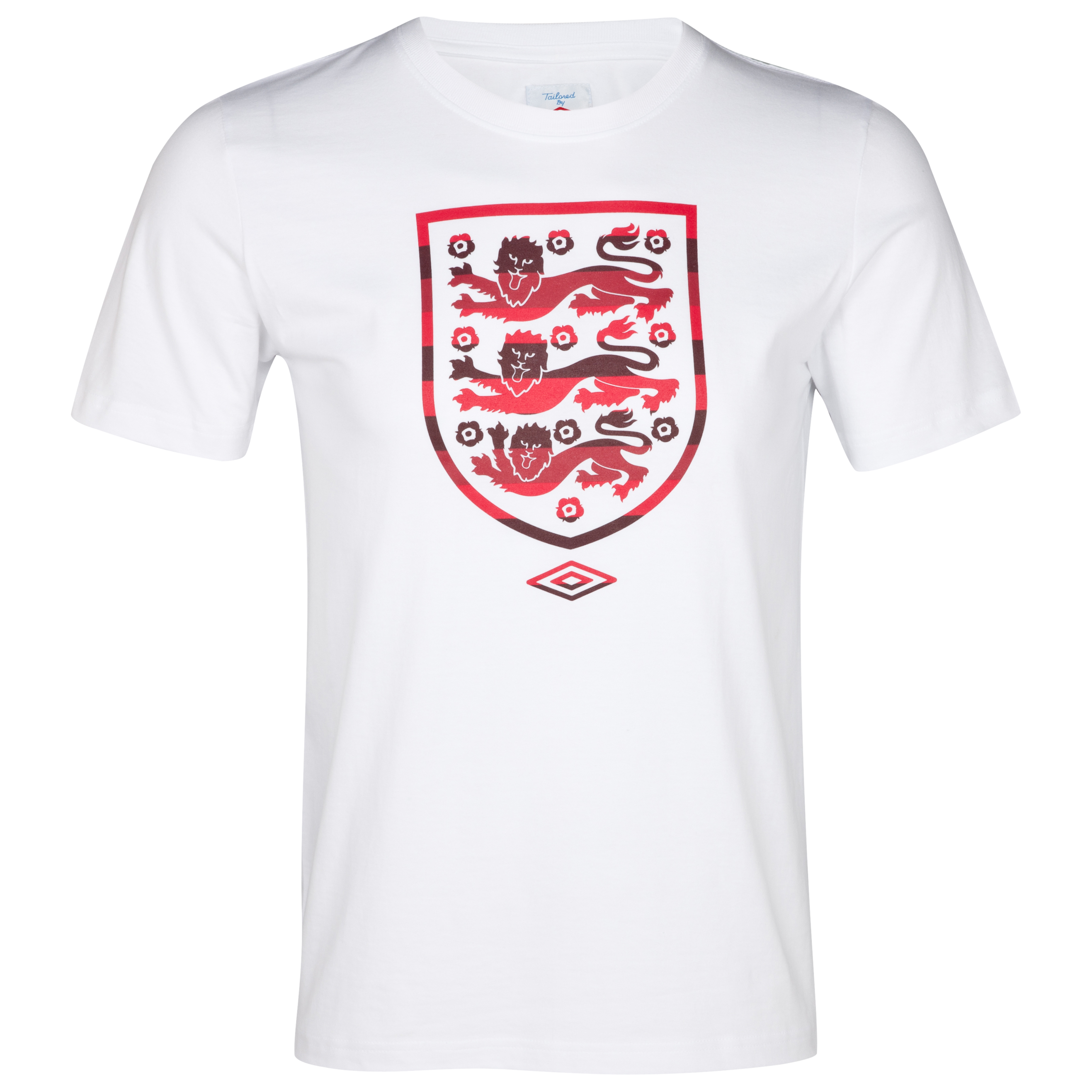 Anderlecht Stripe Crest Fill T-Shirt - White/Vermillion