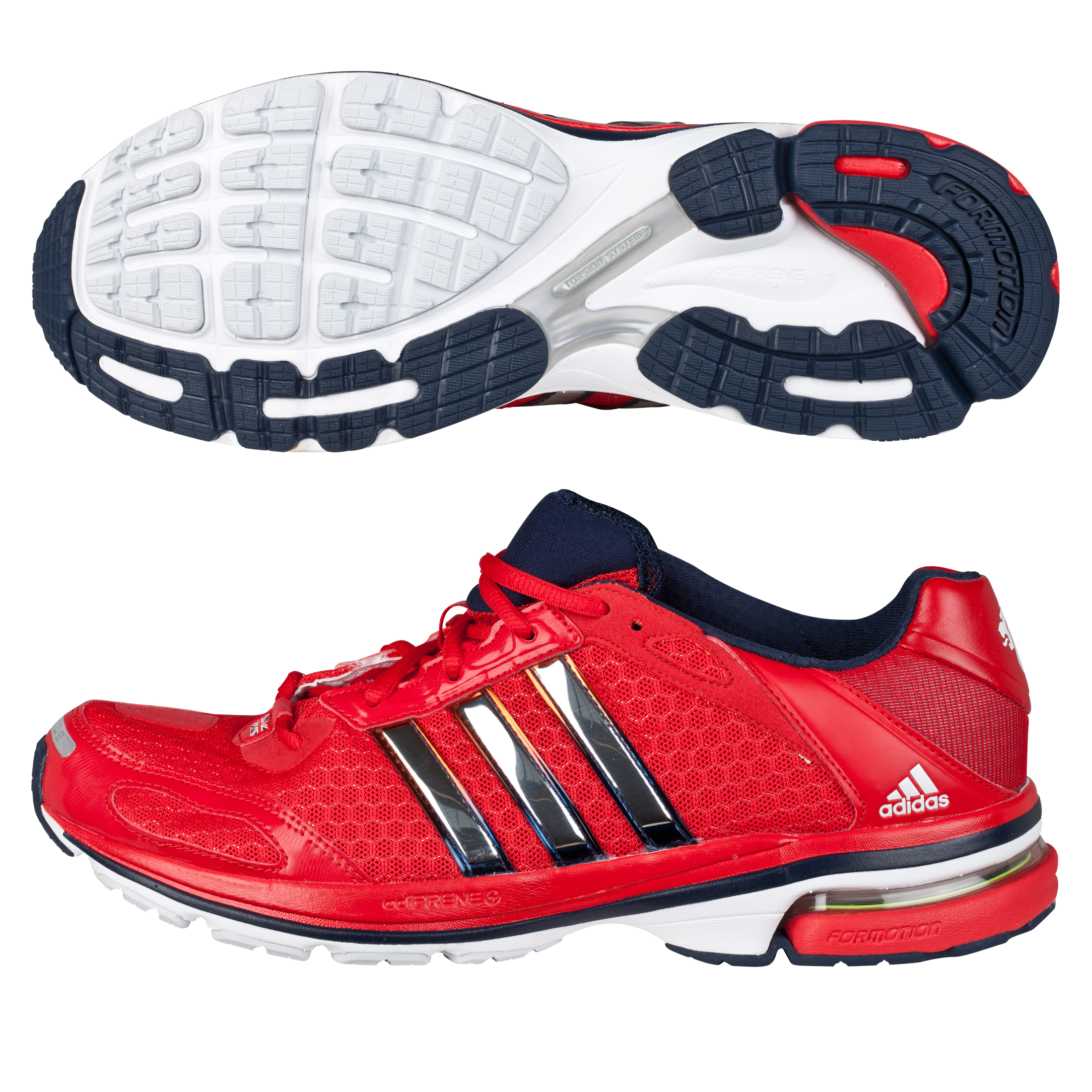 Adidas Supernova Glide 4 Trainers - Vivid Red/Metallic Silver - Womens