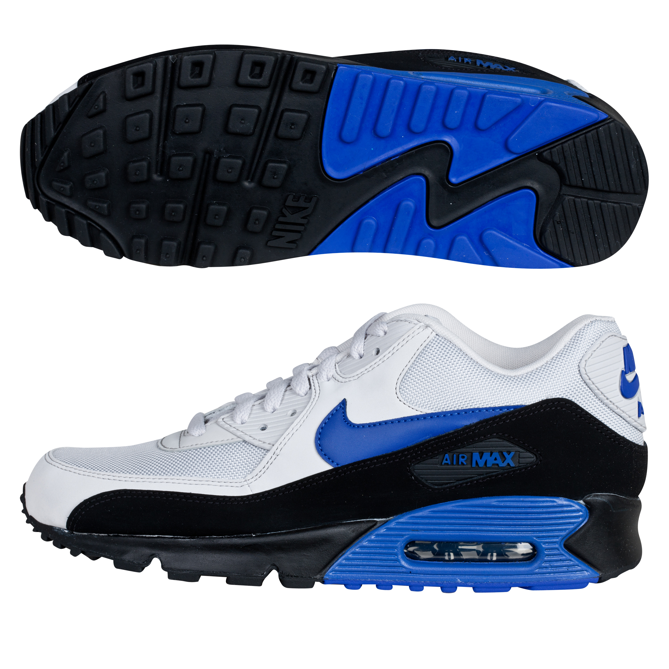 Nike Air Max 90 Essential Trainers - White/Blue