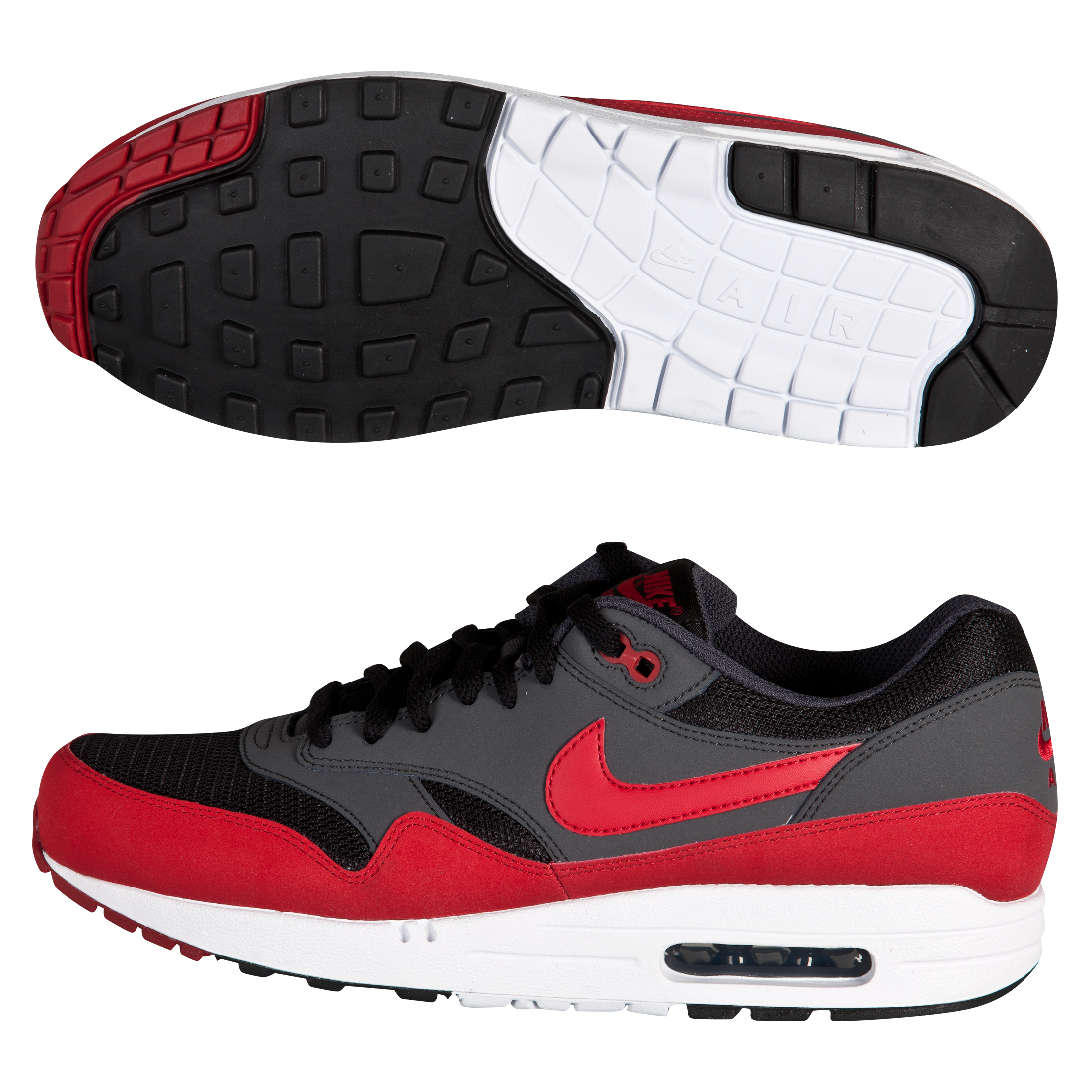 Nike Air Max 1 Trainers- Red/Black
